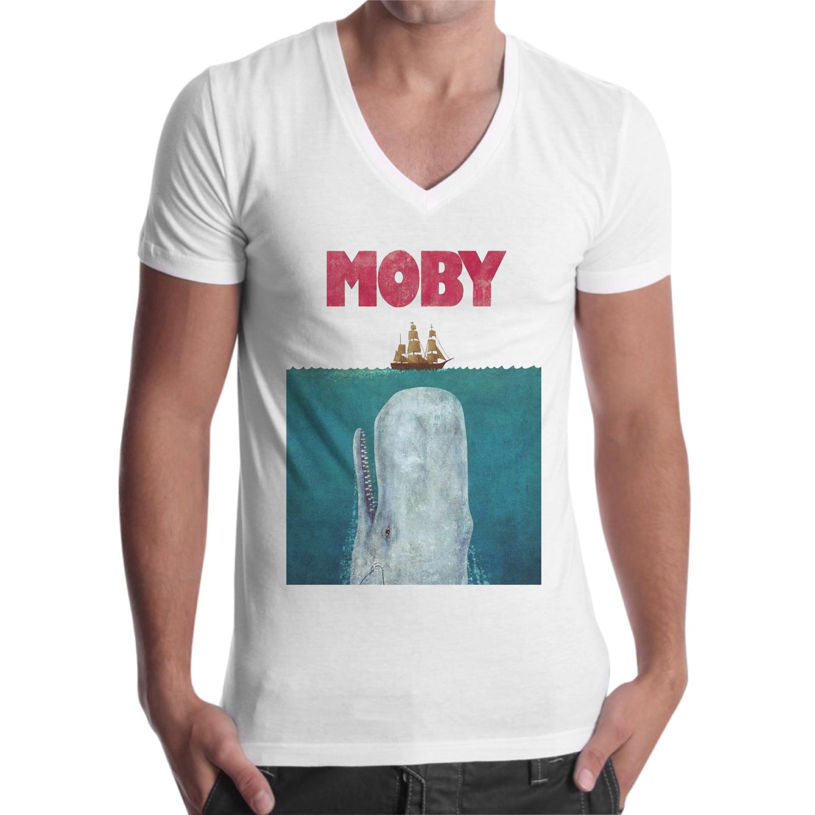 T-Shirt Uomo Scollo V MOBY