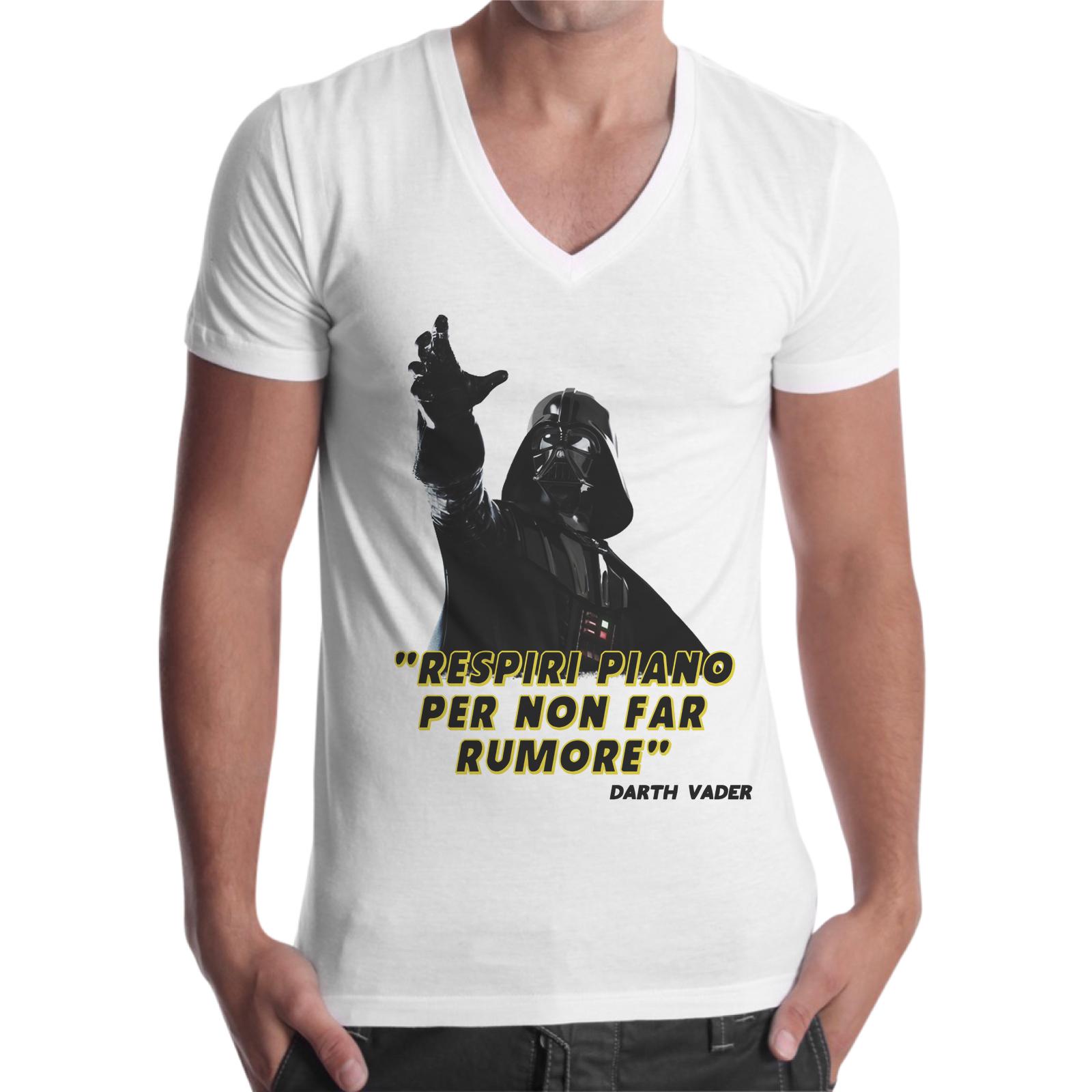 T-Shirt Uomo Scollo V RESPIRI PIANO