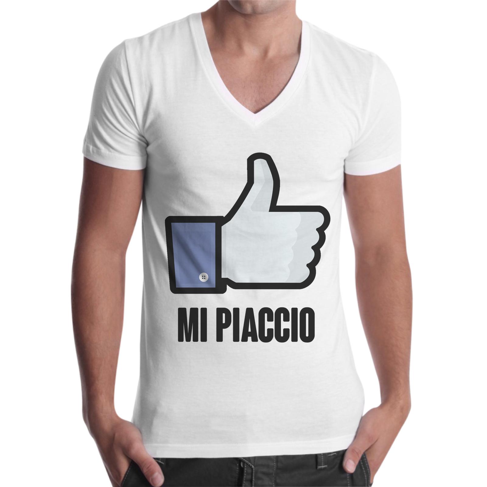 T-Shirt Uomo Scollo V MI PIACCIO 1