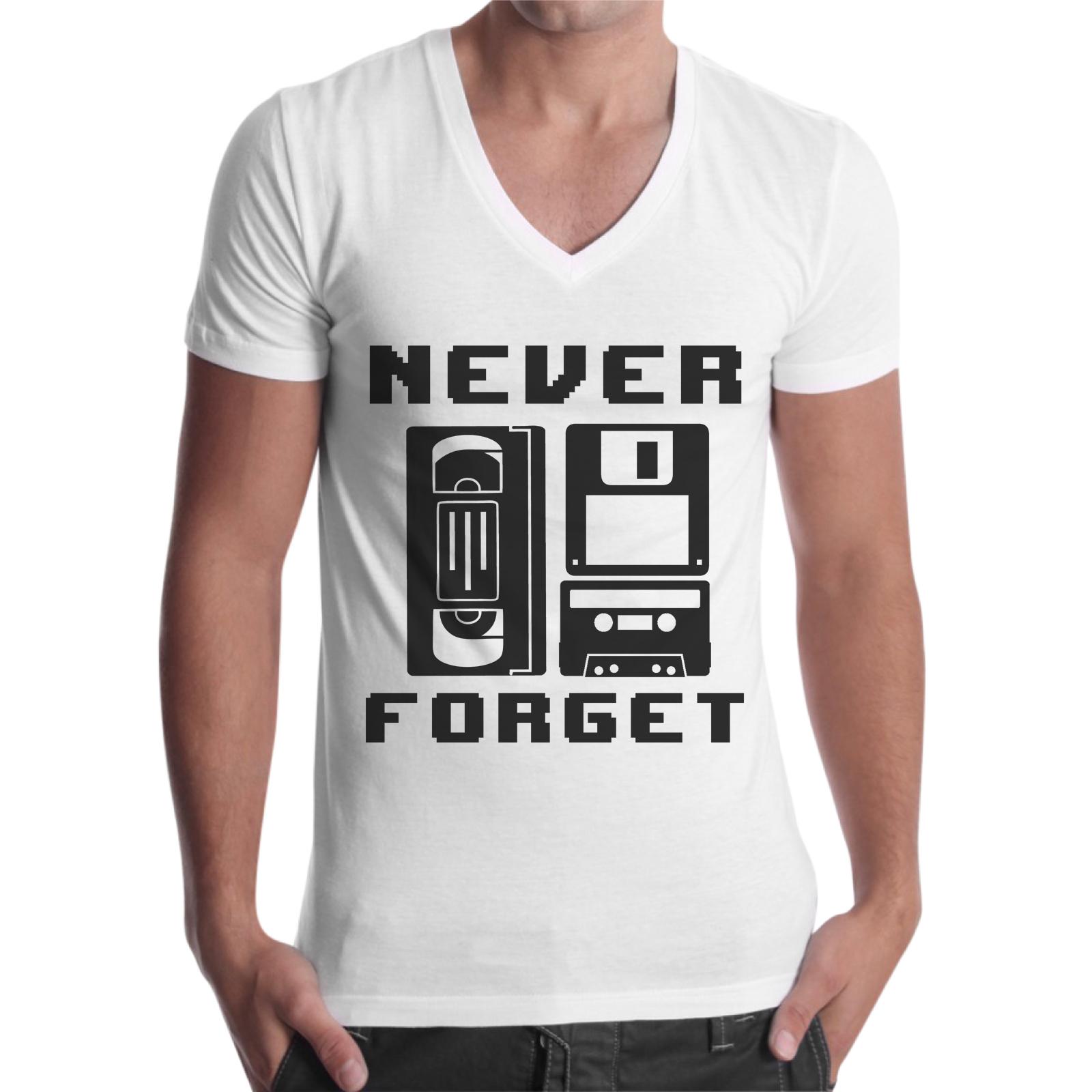 T-Shirt Uomo Scollo V NEVER FORGET