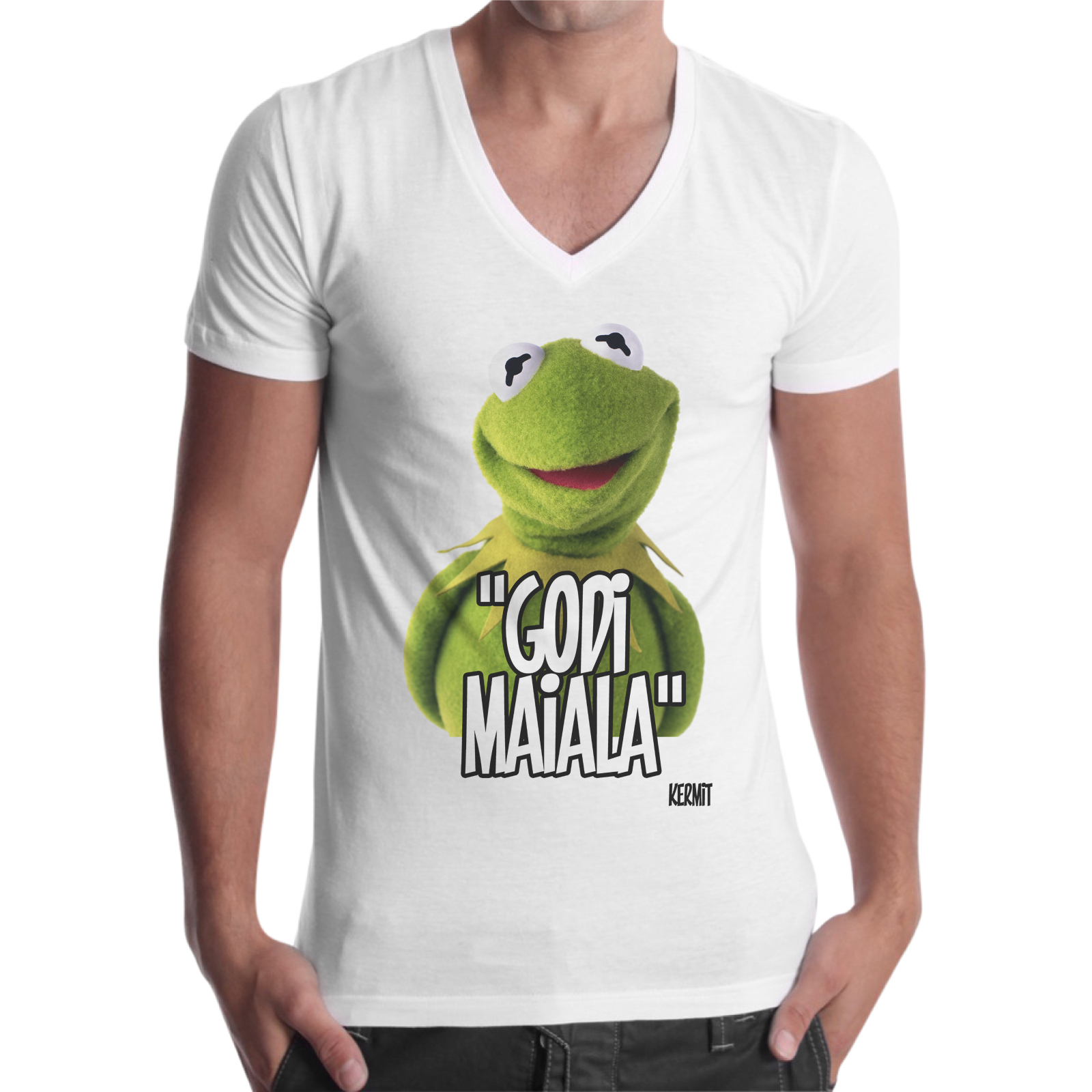 T-Shirt Uomo Scollo V GODI MAIALA