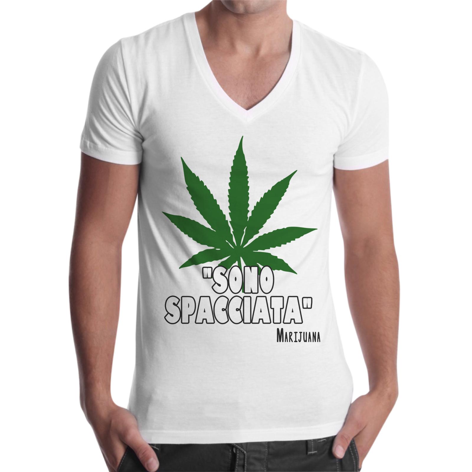 T-Shirt Uomo Scollo V SONO SPACCIATA