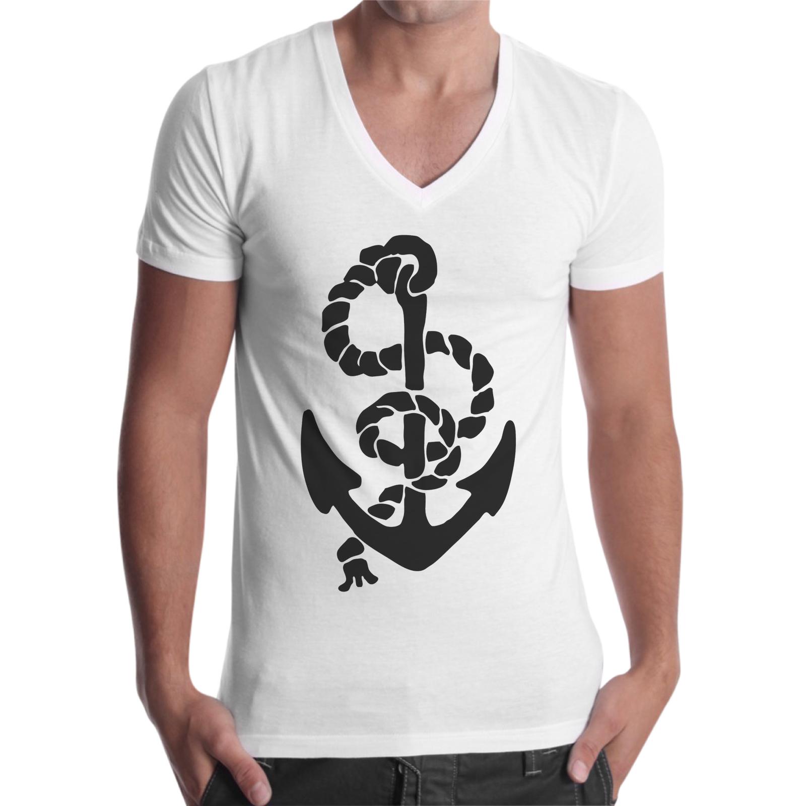 T-Shirt Uomo Scollo V ANCORA SEA