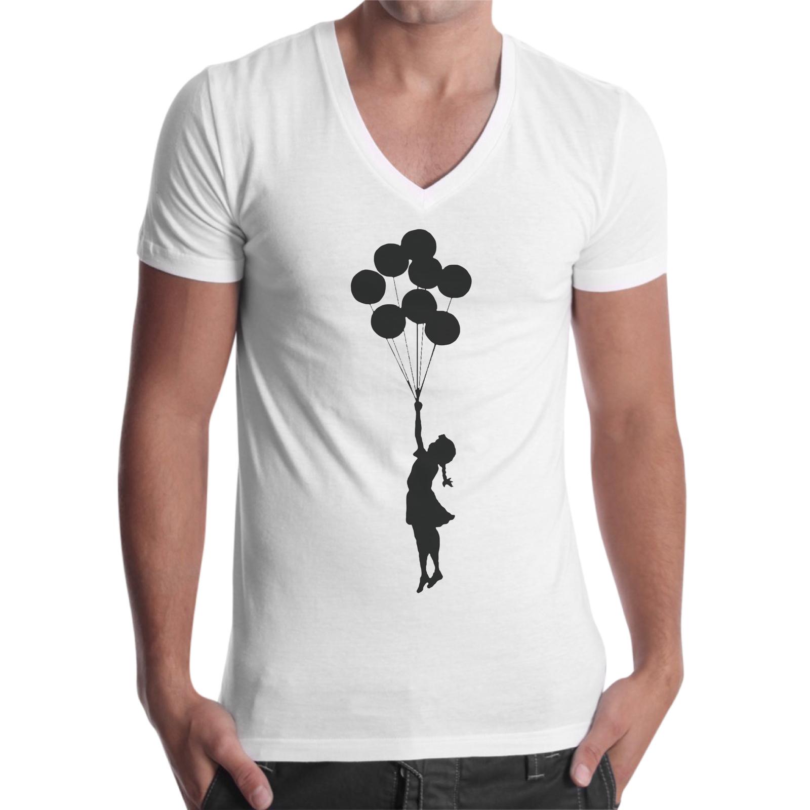 T-Shirt Uomo Scollo V BAMBINA PALLONCINI