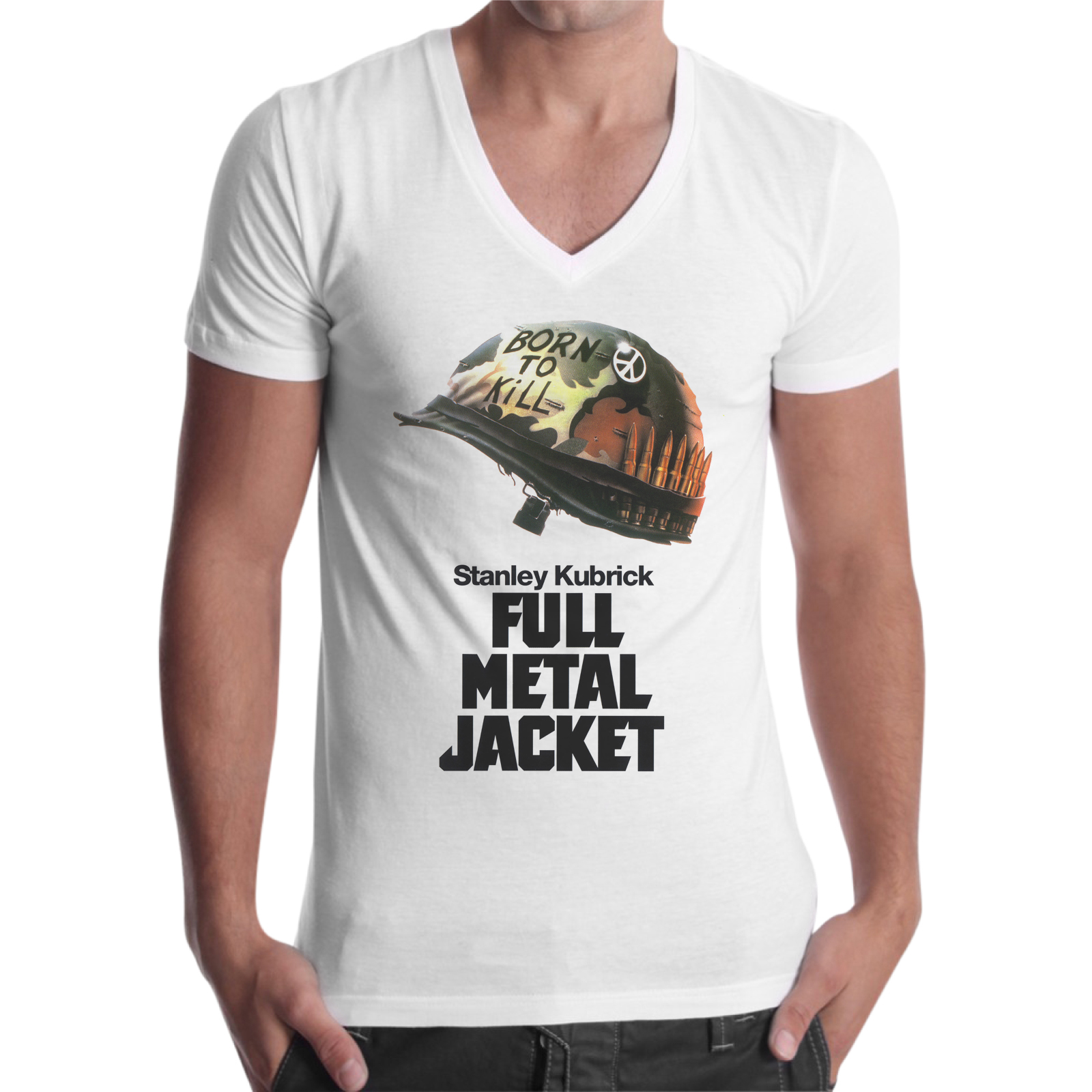 T-Shirt Uomo Scollo V FULL METAL 1