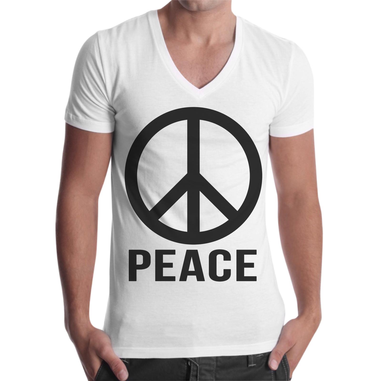 T-Shirt Uomo Scollo V PEACE 1