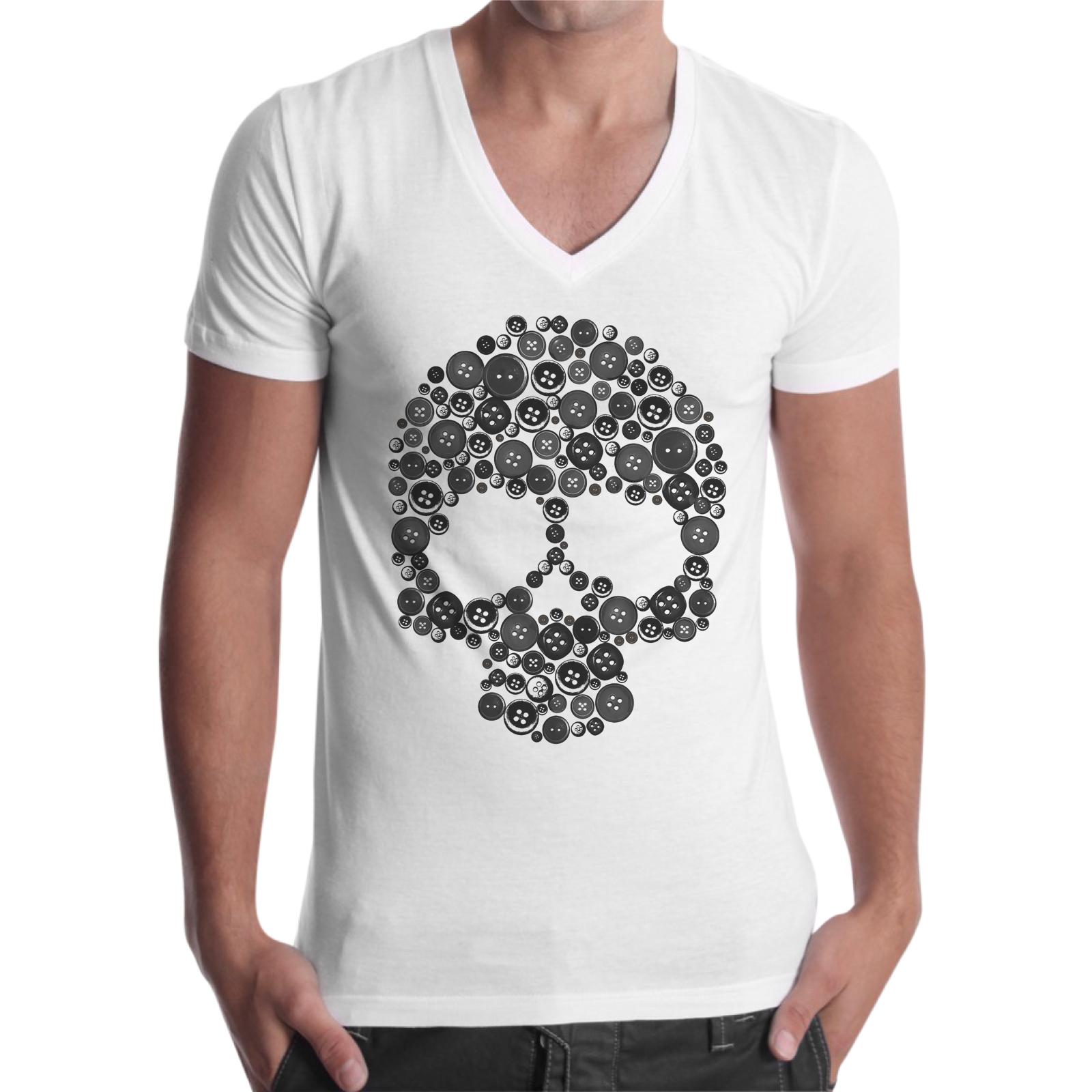 T-Shirt Uomo Scollo V TESCHIO BOTTONI 1