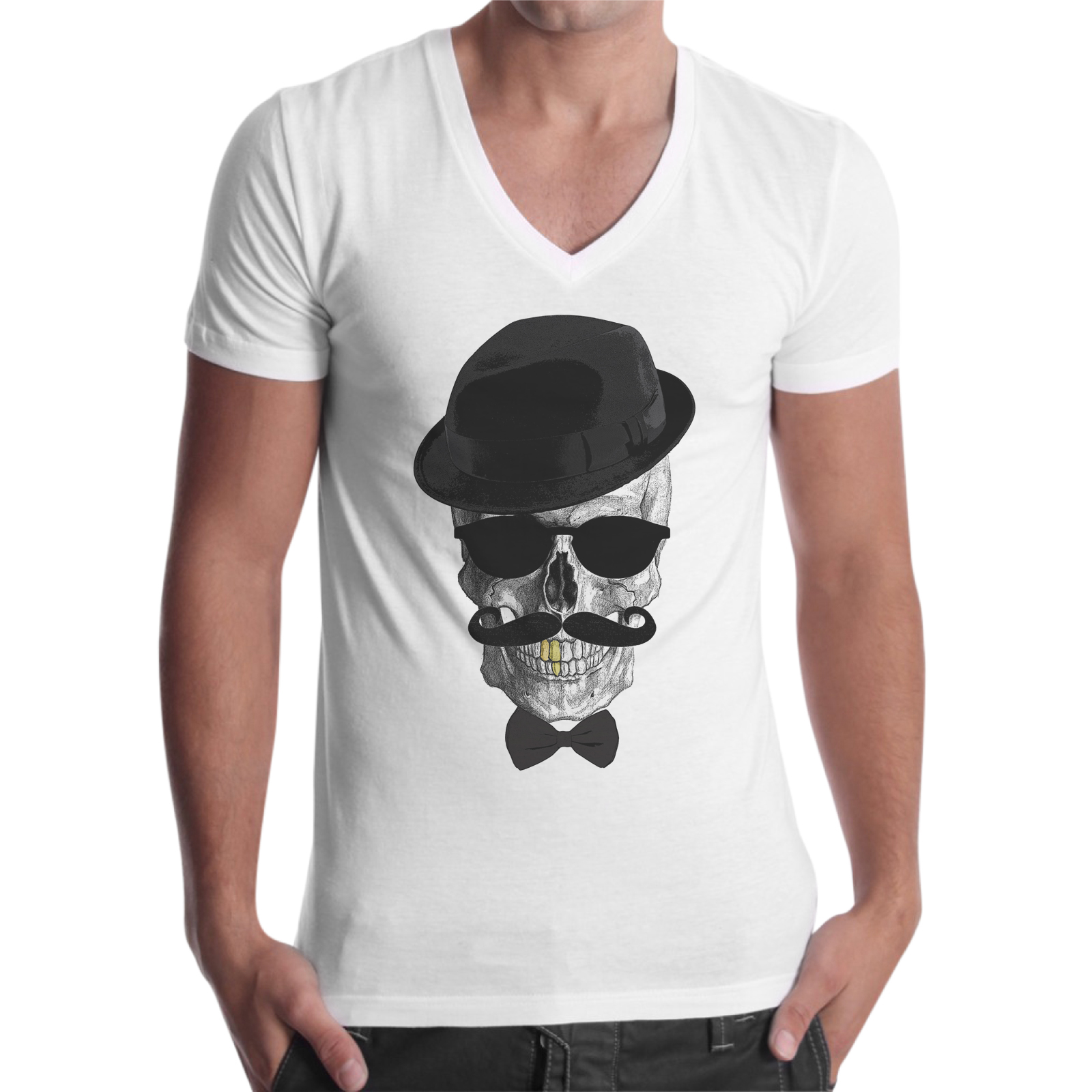 T-Shirt Uomo Scollo V TESCHIO MR.