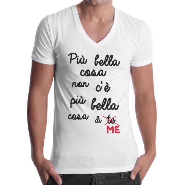 T-Shirt Uomo Scollo V PIU' BELLA COSA DI ME 1