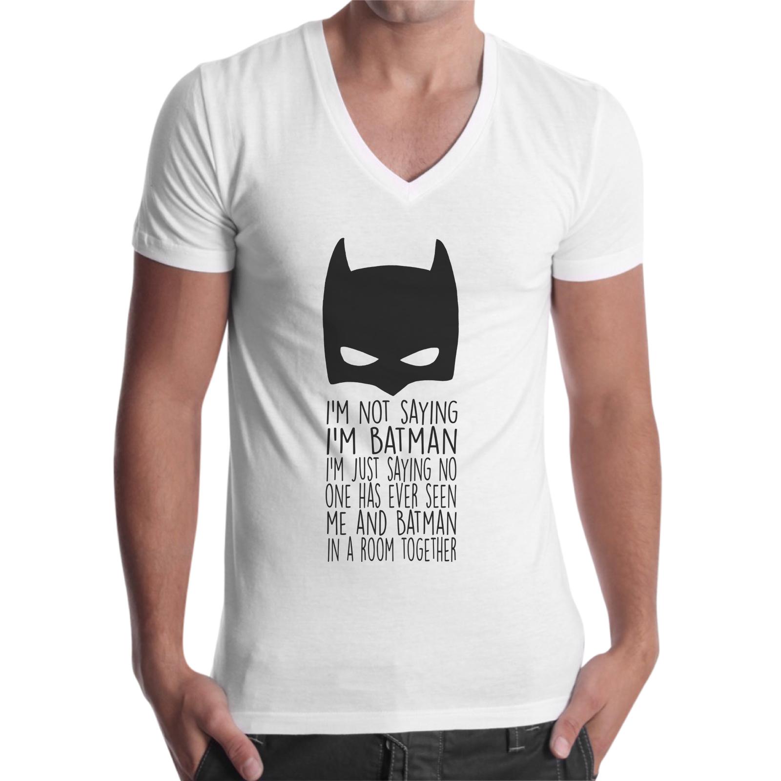 T-Shirt Uomo Scollo V NOT SAYING I'M BATMAN 1