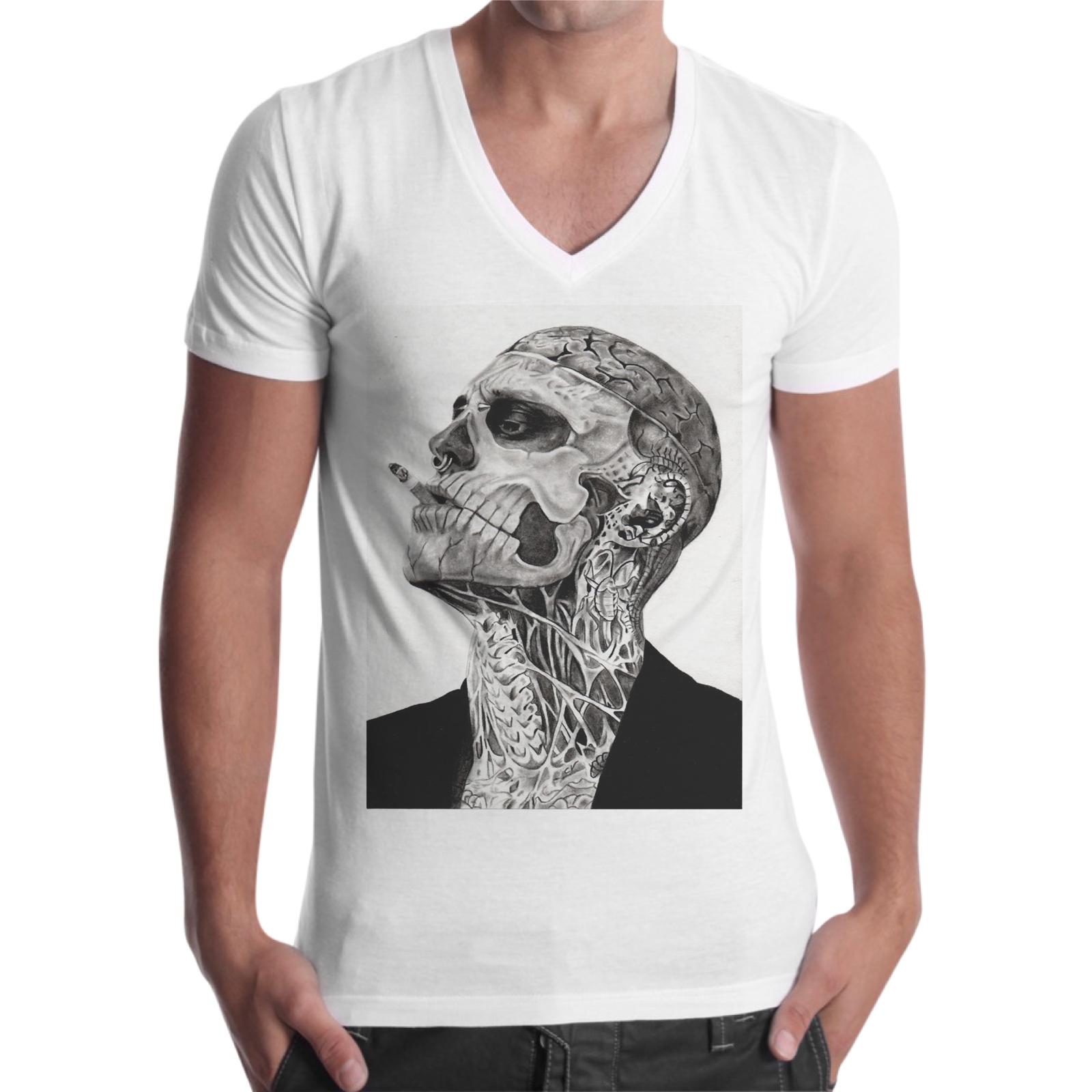T-Shirt Uomo Scollo V UOMO TATTOO