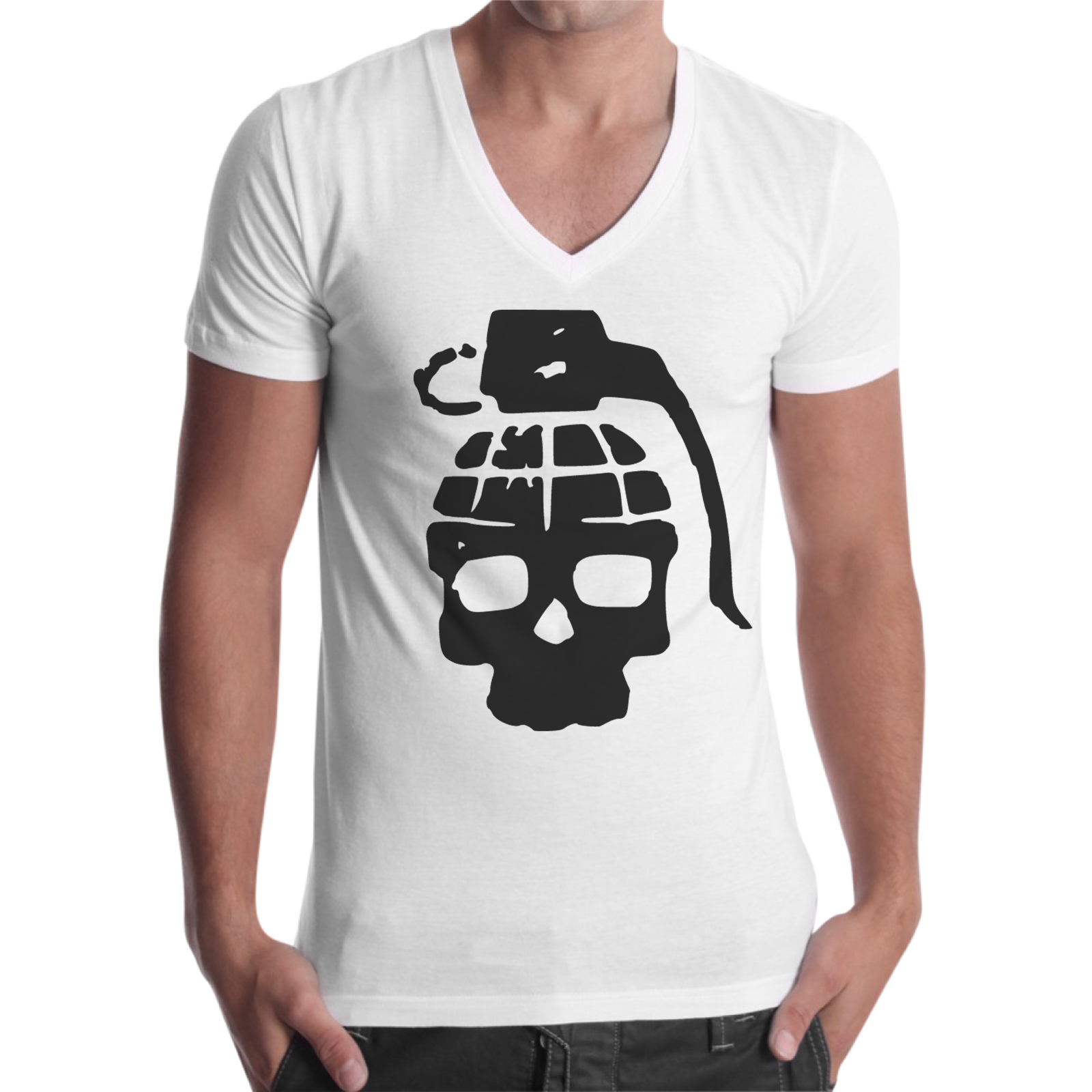 T-Shirt Uomo Scollo V TESCHIO BOMB