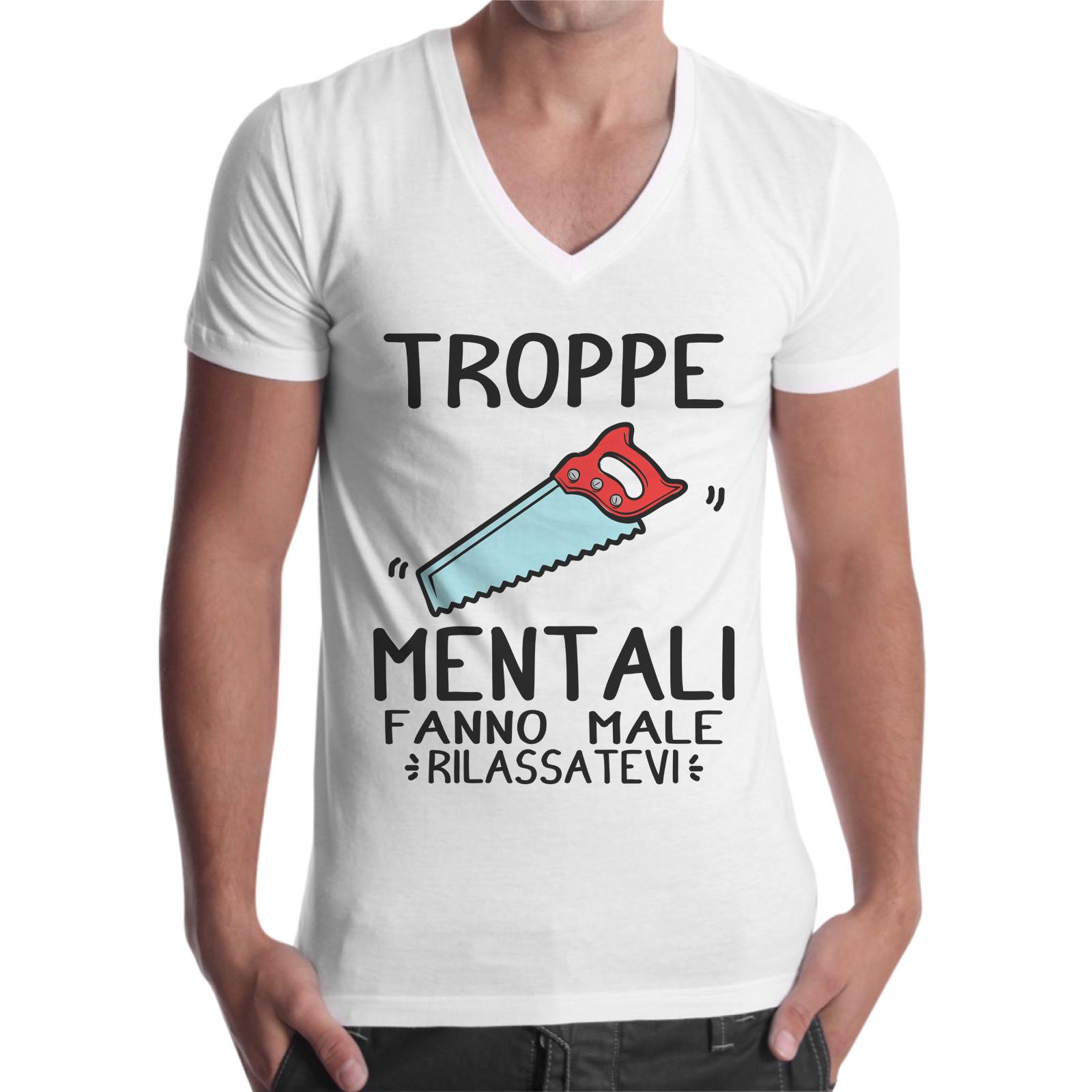 T-Shirt Uomo Scollo V SEGHE MENTALI