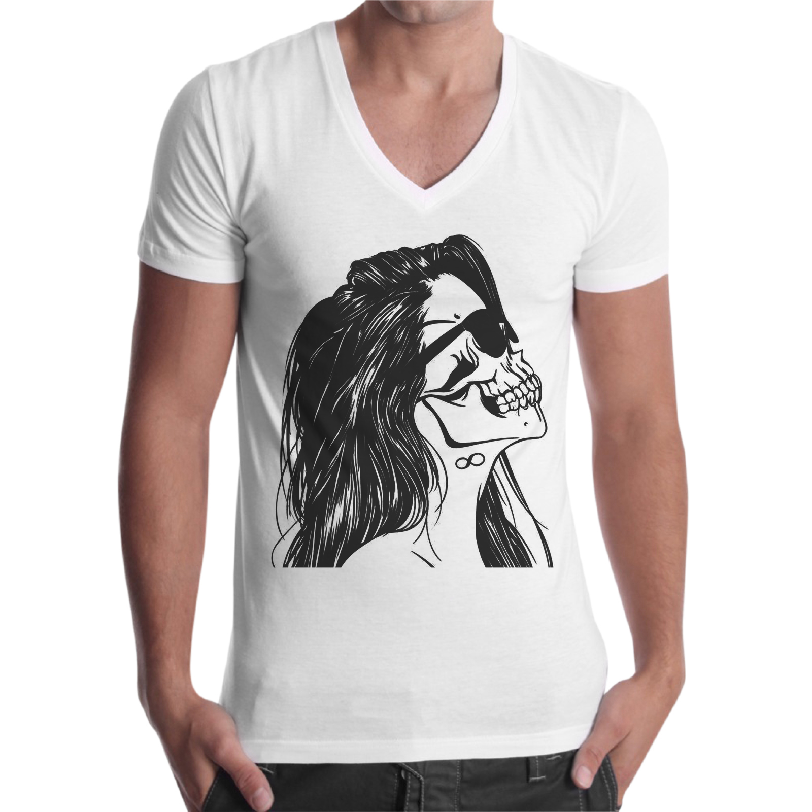 T-Shirt Uomo Scollo V TESCHIO WOMAN