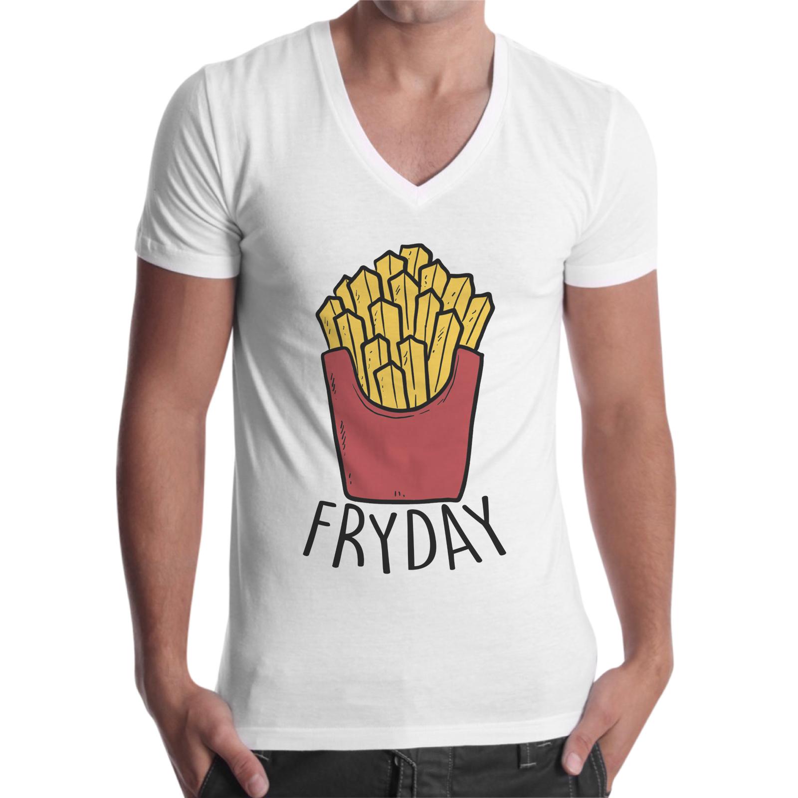 T-Shirt Uomo Scollo V FRYDAY