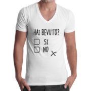 T-Shirt Uomo Scollo V HAI BEEVUTO