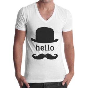 T-Shirt Uomo Scollo V HELLO VINTAGE