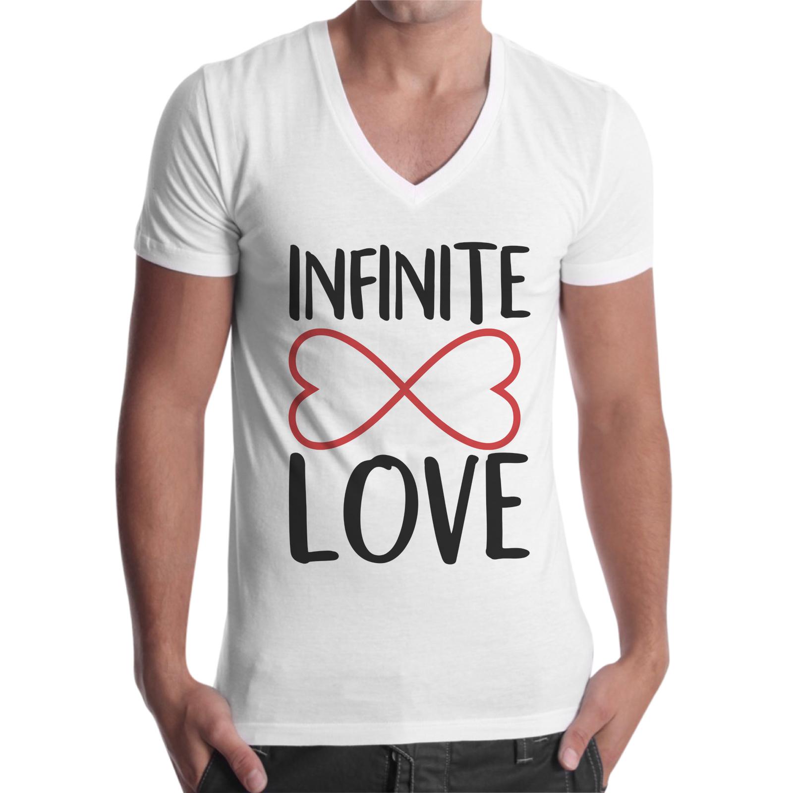 T-Shirt Uomo Scollo V INFINITE LOVE