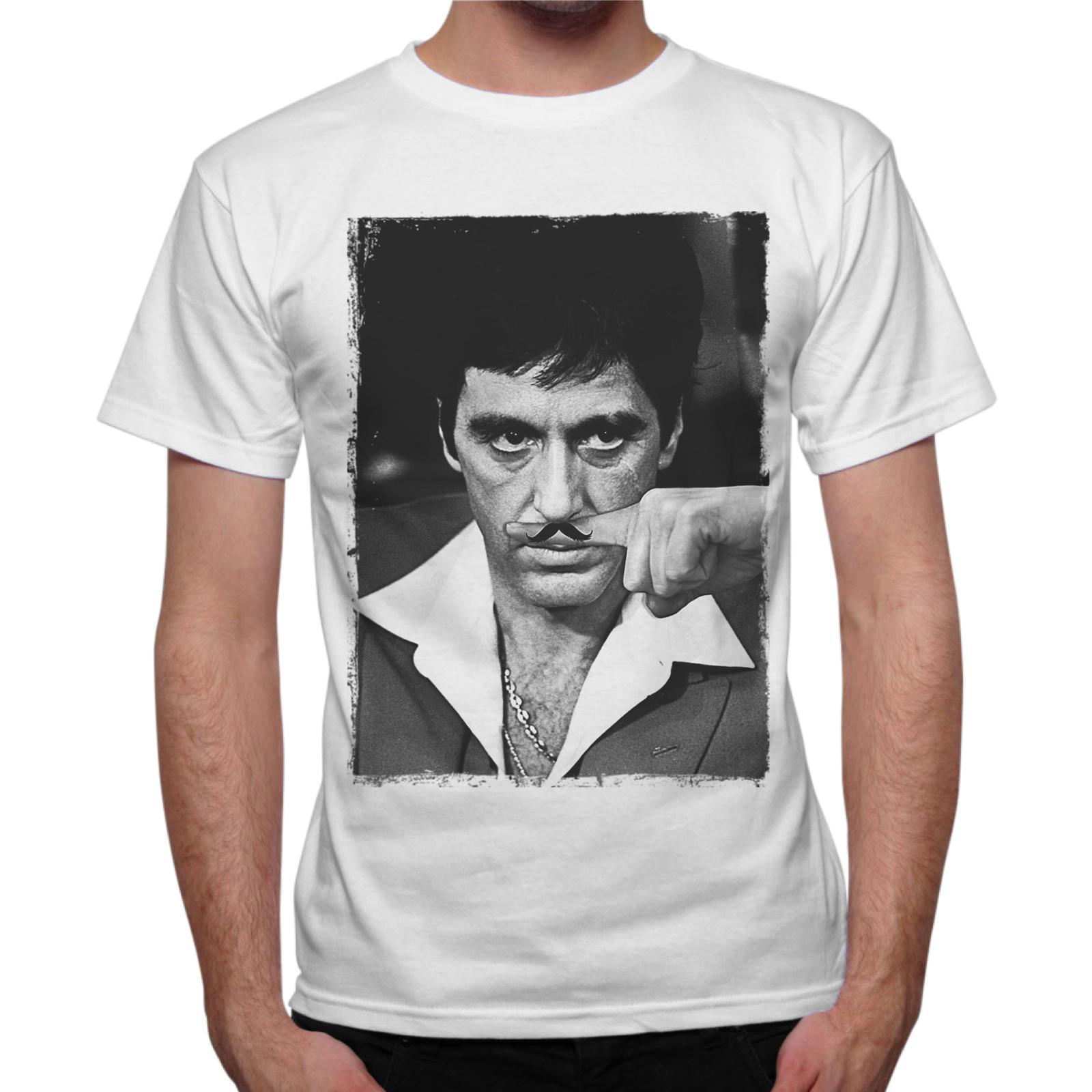T-Shirt Uomo AL PACINO MUSTACHE