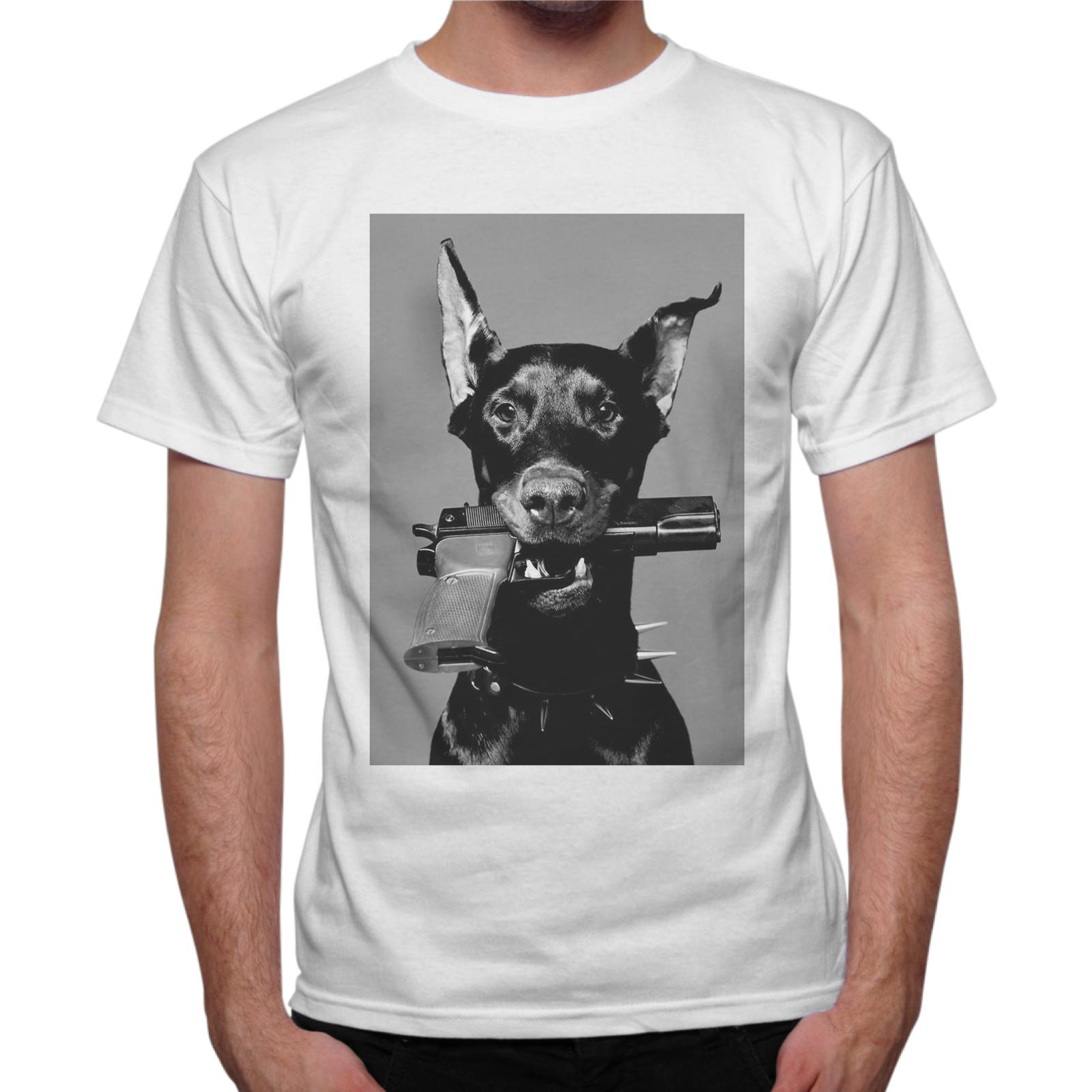 T-Shirt Uomo DOG PISTOL