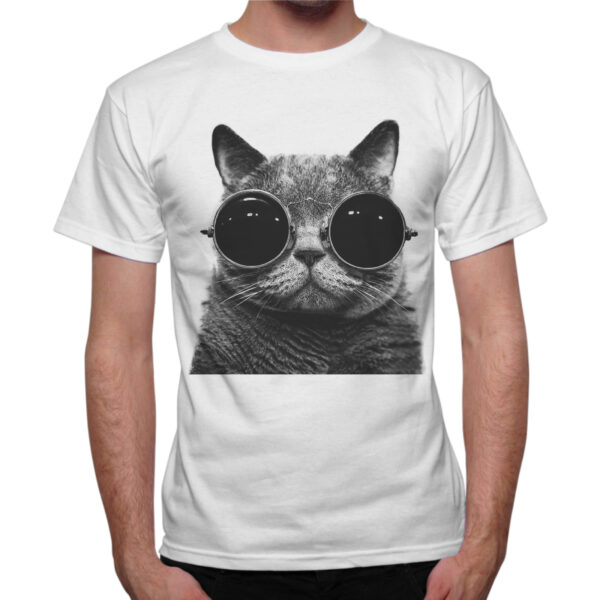 T-Shirt Uomo GATTO OCCHIALI