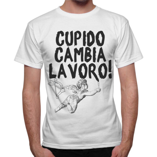 T-Shirt Uomo CUPIDO CAMBIA LAVORO
