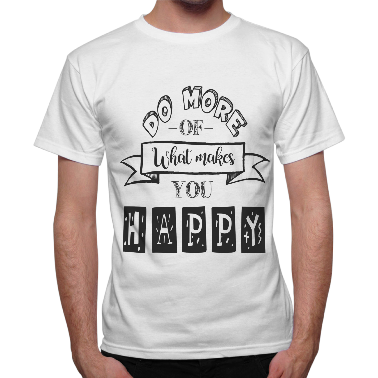 T-Shirt Uomo MAKES YOU HAPPY 1