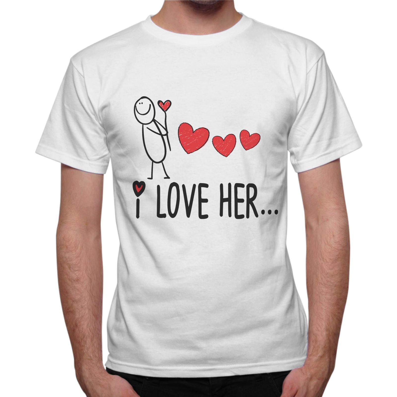 T-Shirt Uomo I LOVE HER