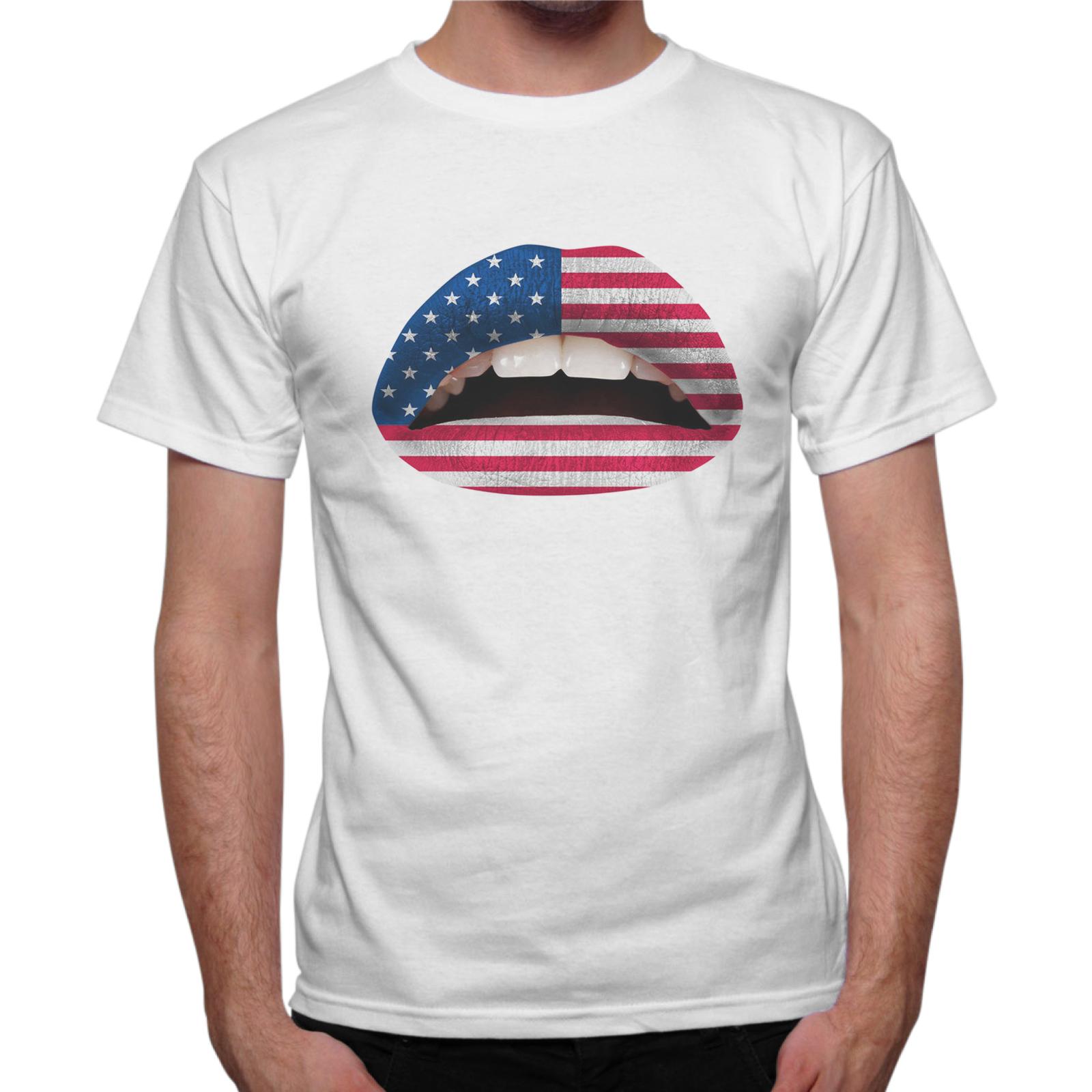 T-Shirt Uomo USA LIPS
