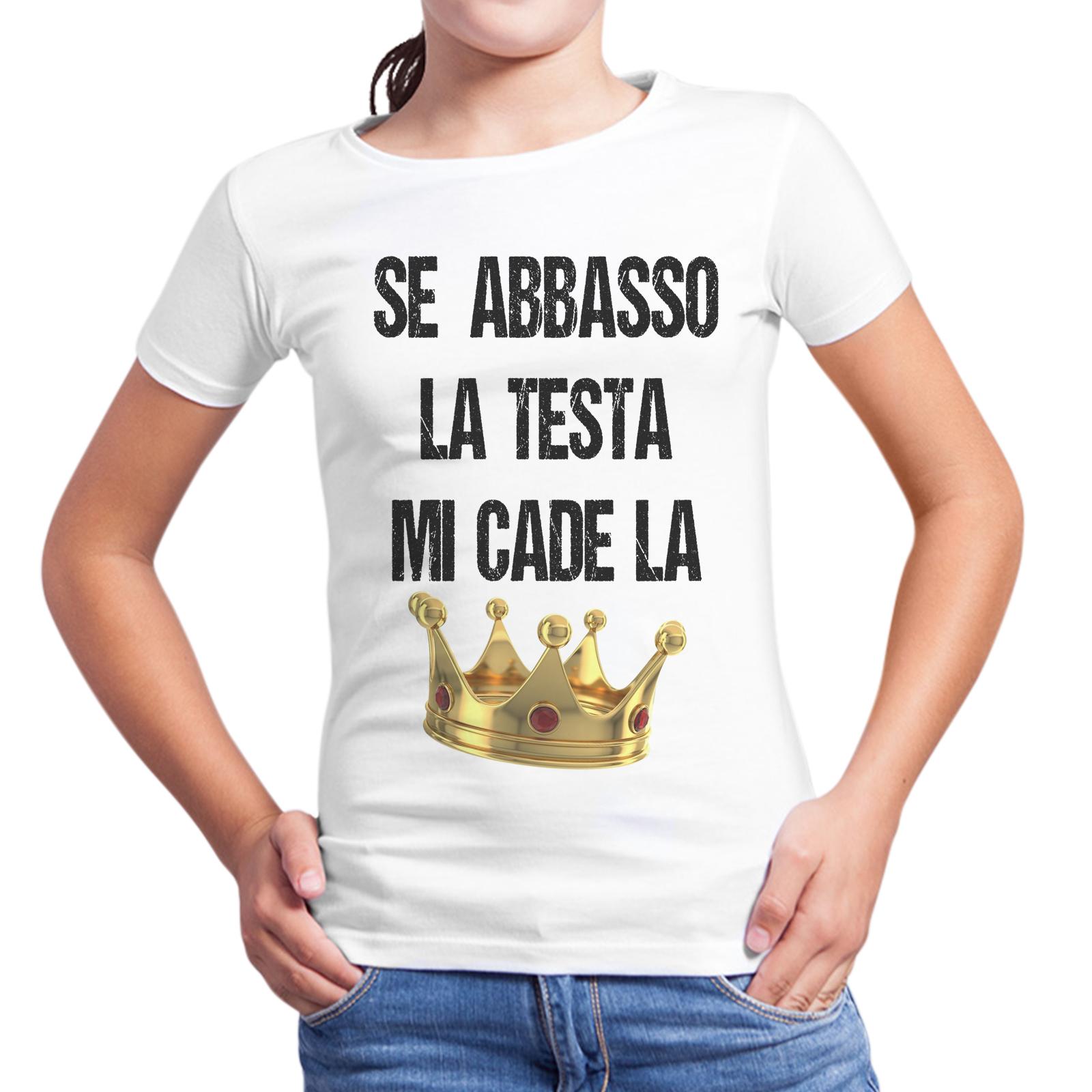 T-Shirt Bambina MI CADE LA CORONA
