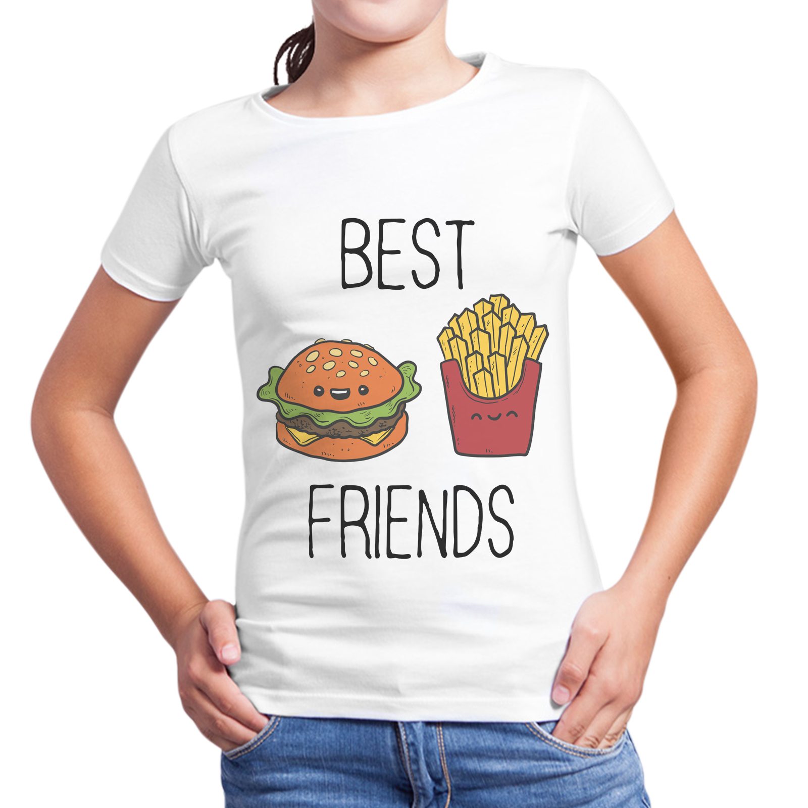 T-Shirt Bambina BEST FRIENDS MENU