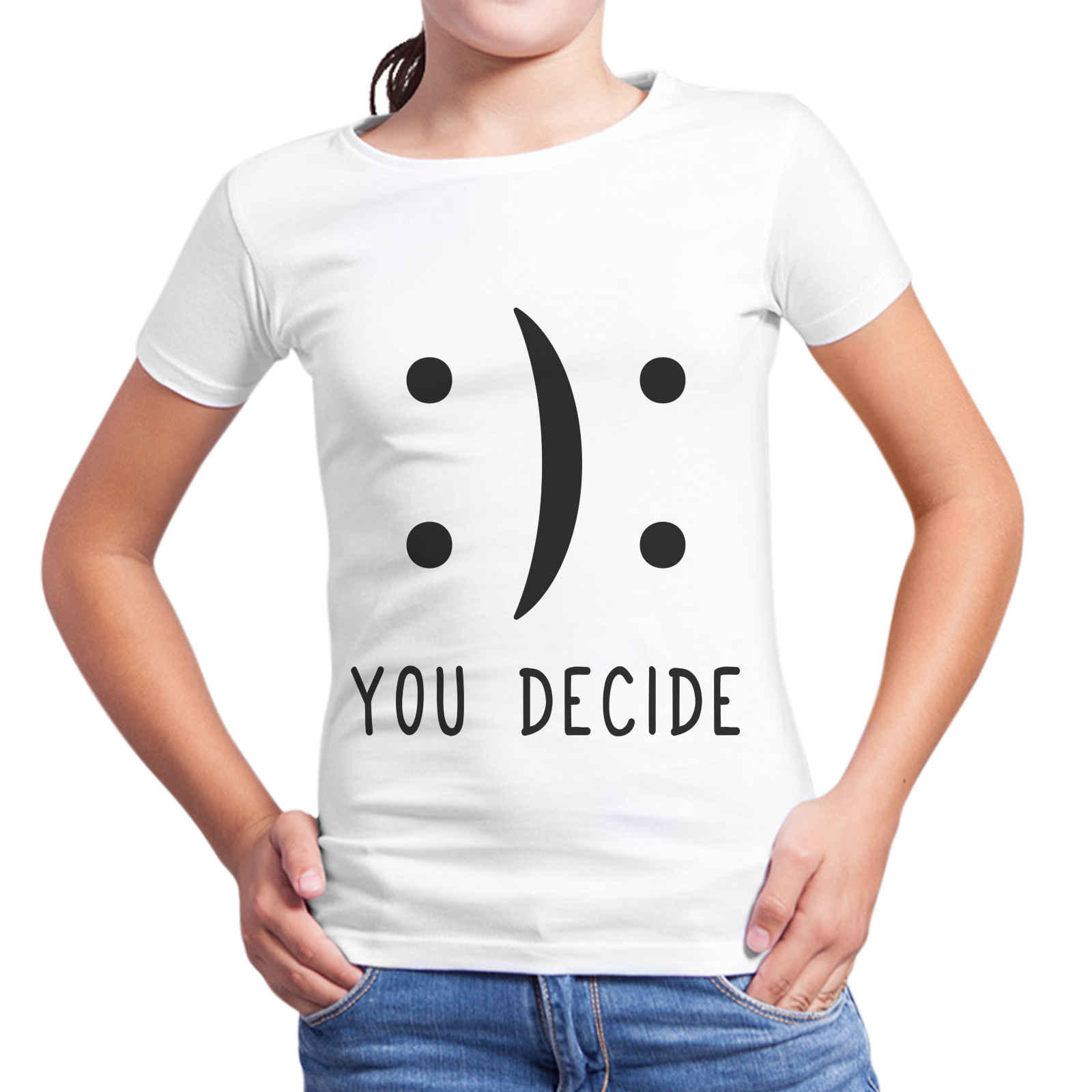 T-Shirt Bambina YOU DECIDE