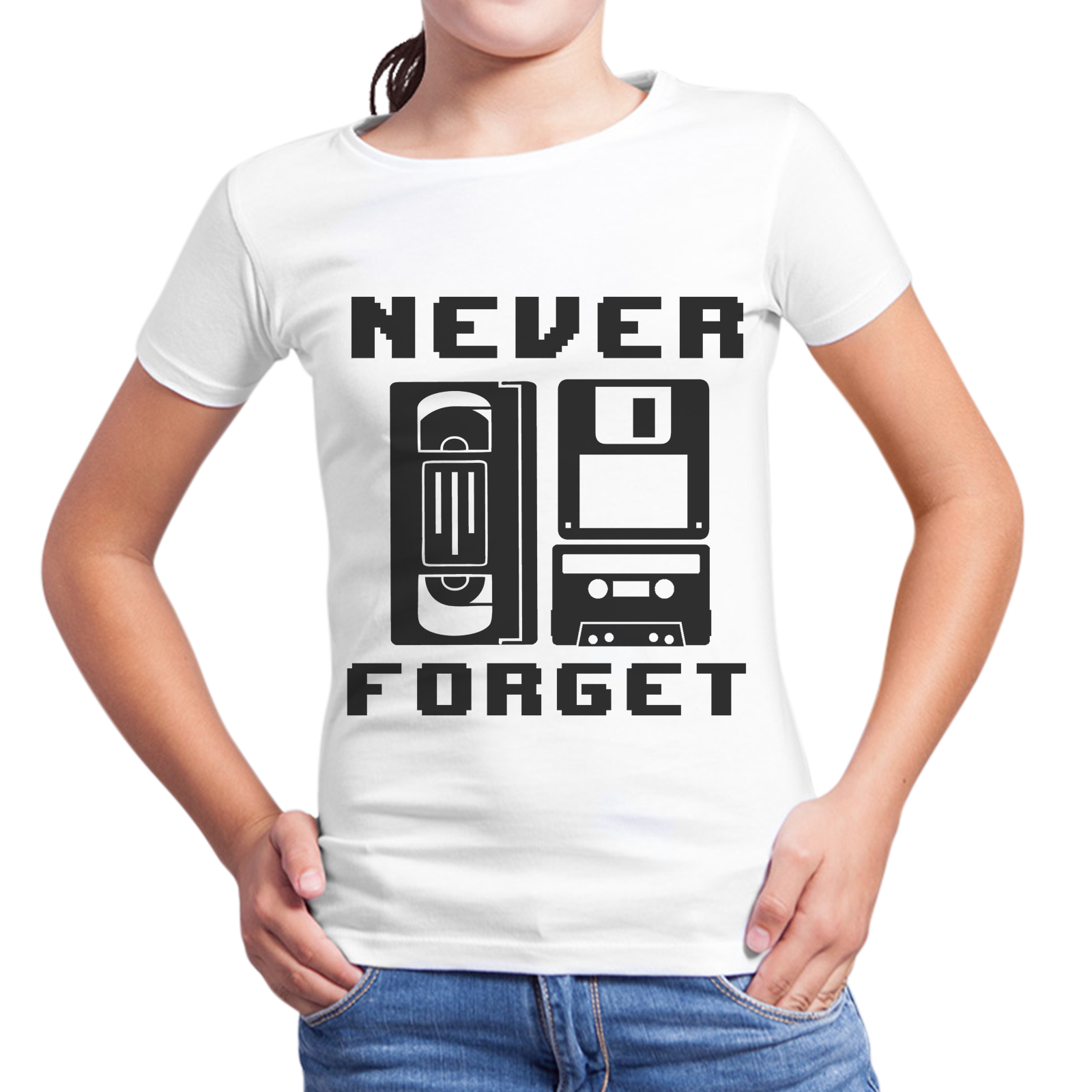 T-Shirt Bambina NEVER FORGET