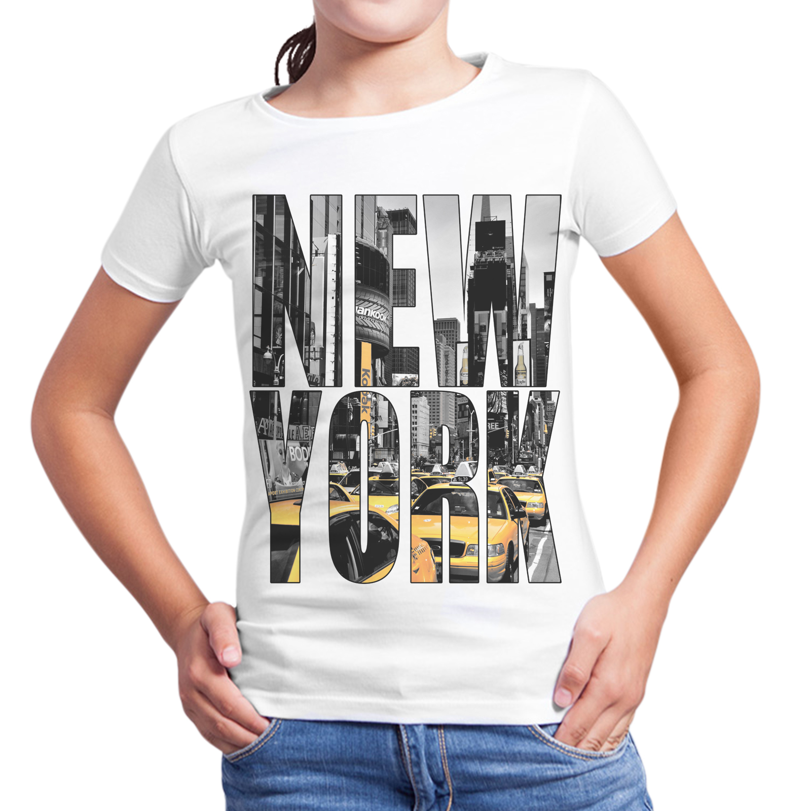 T-Shirt Bambina NEW YORK TAXI