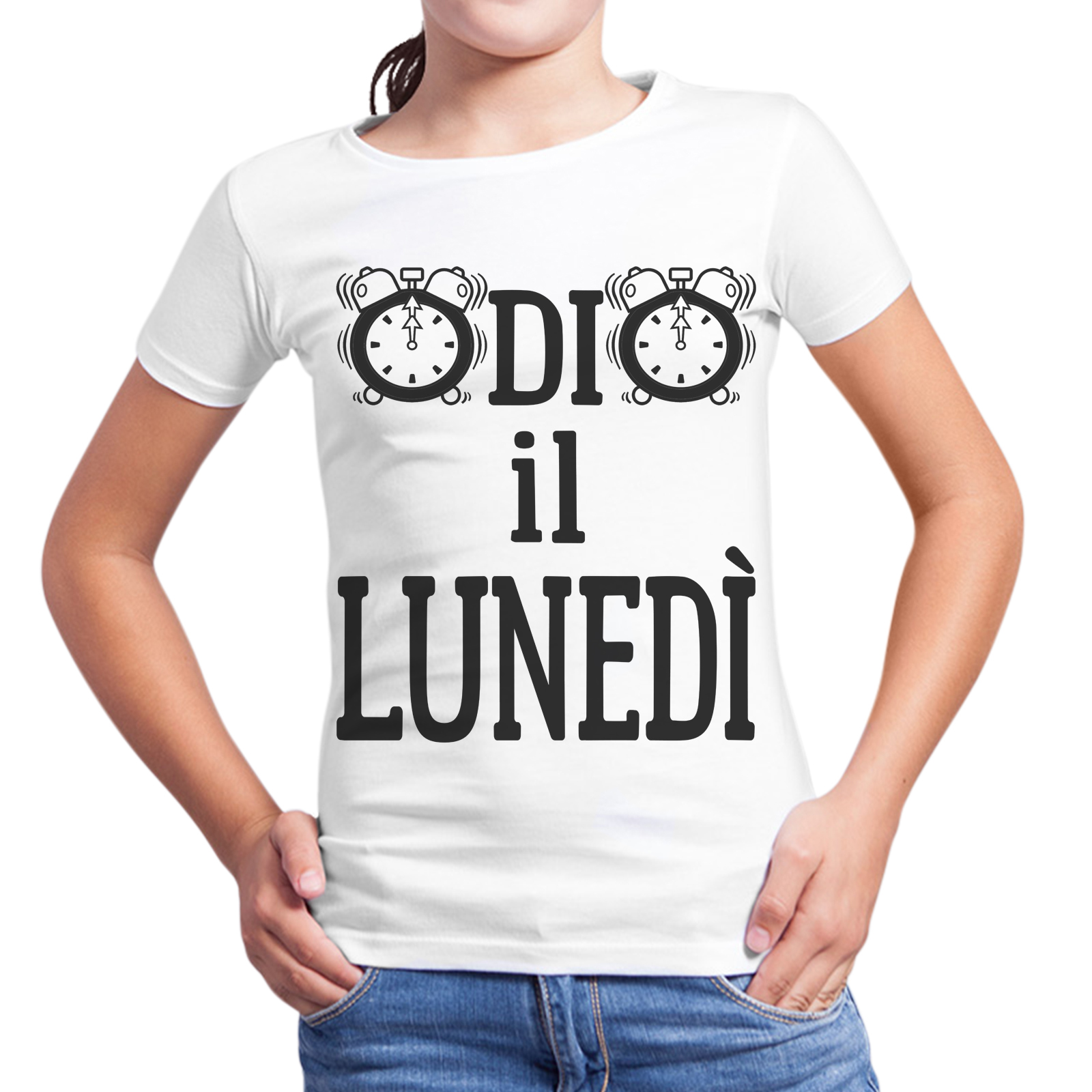 T-Shirt Bambina ODIO IL LUNEDI