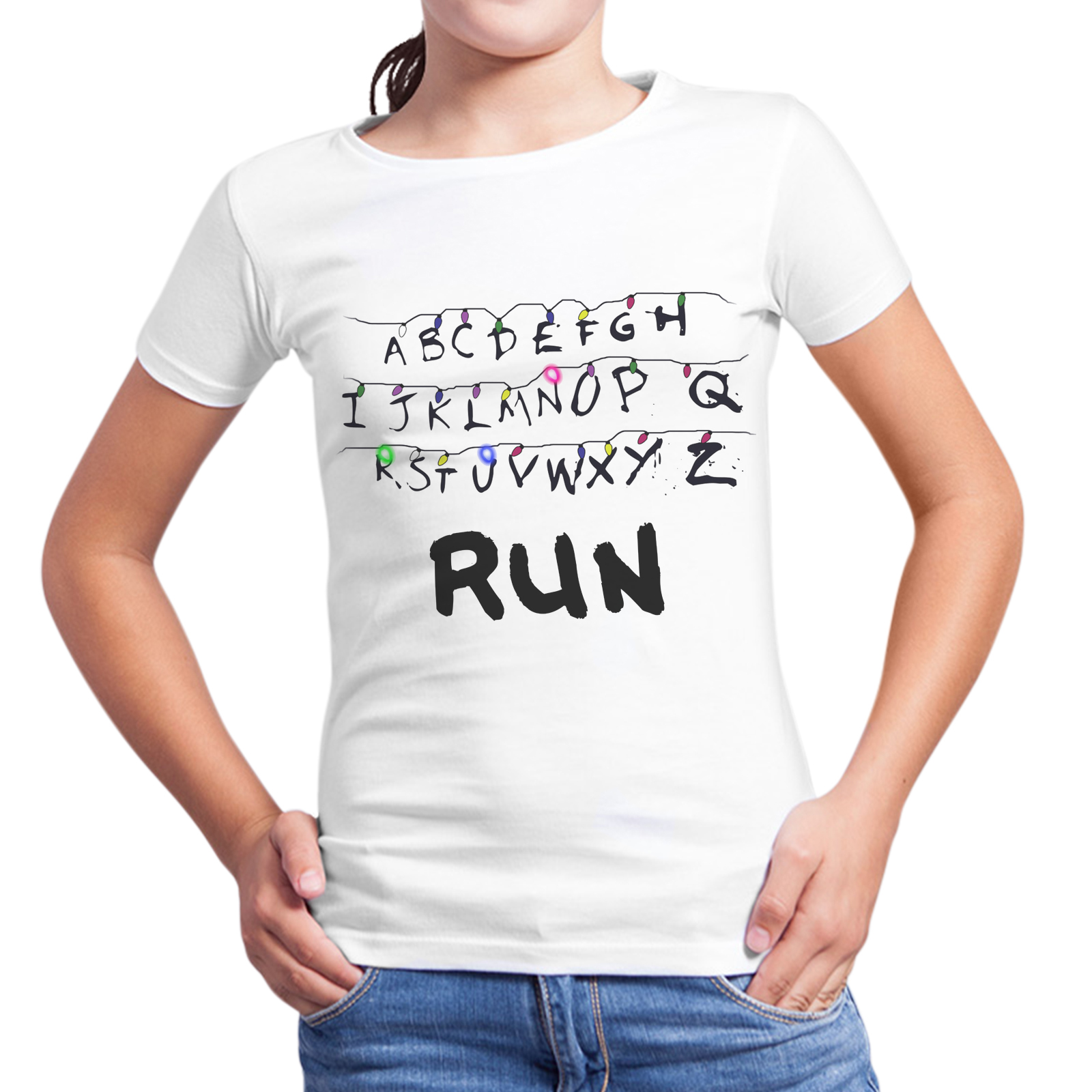 T-Shirt Bambina RUN STRANGER THINGS 1