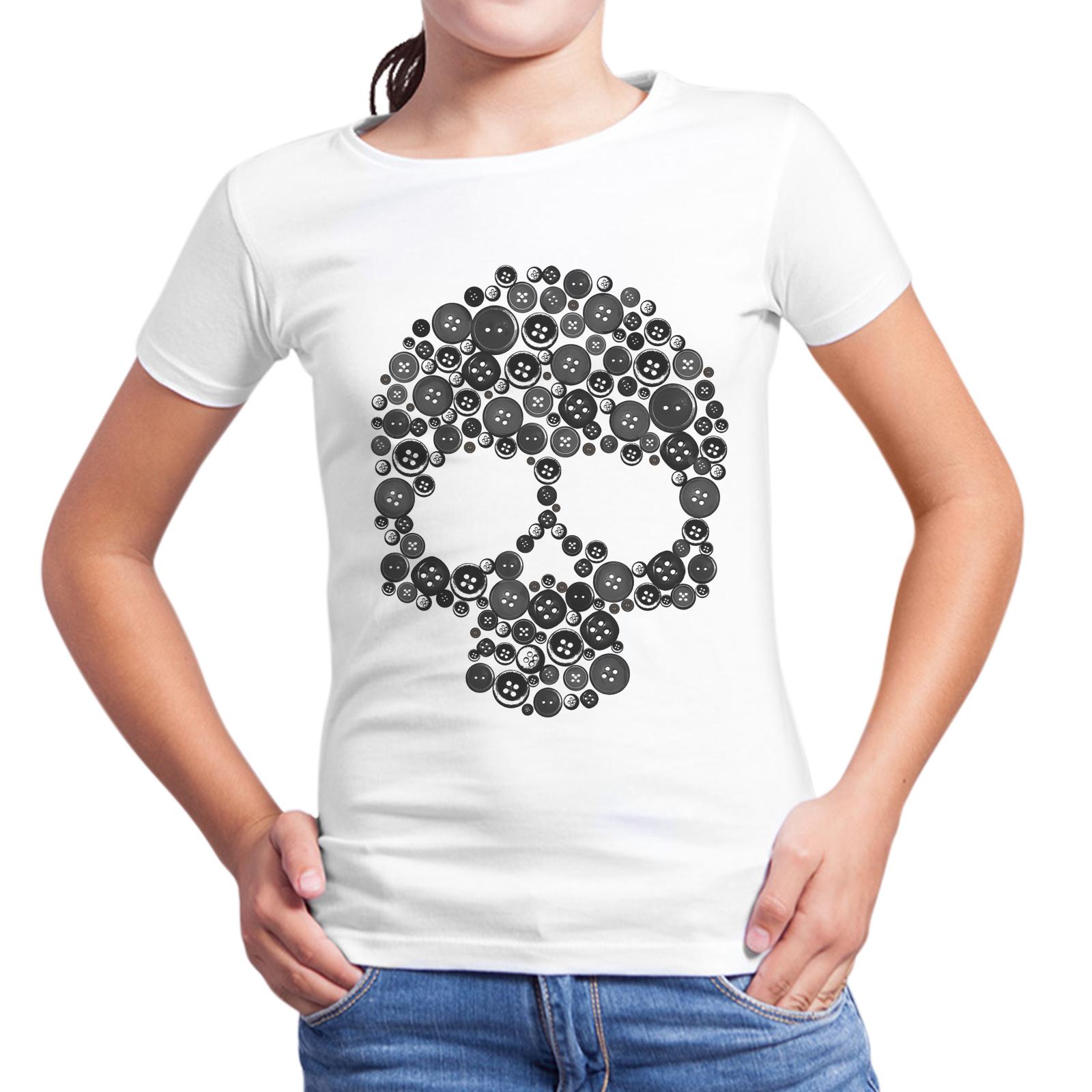 T-Shirt Bambina TESCHIO BOTTONI 1