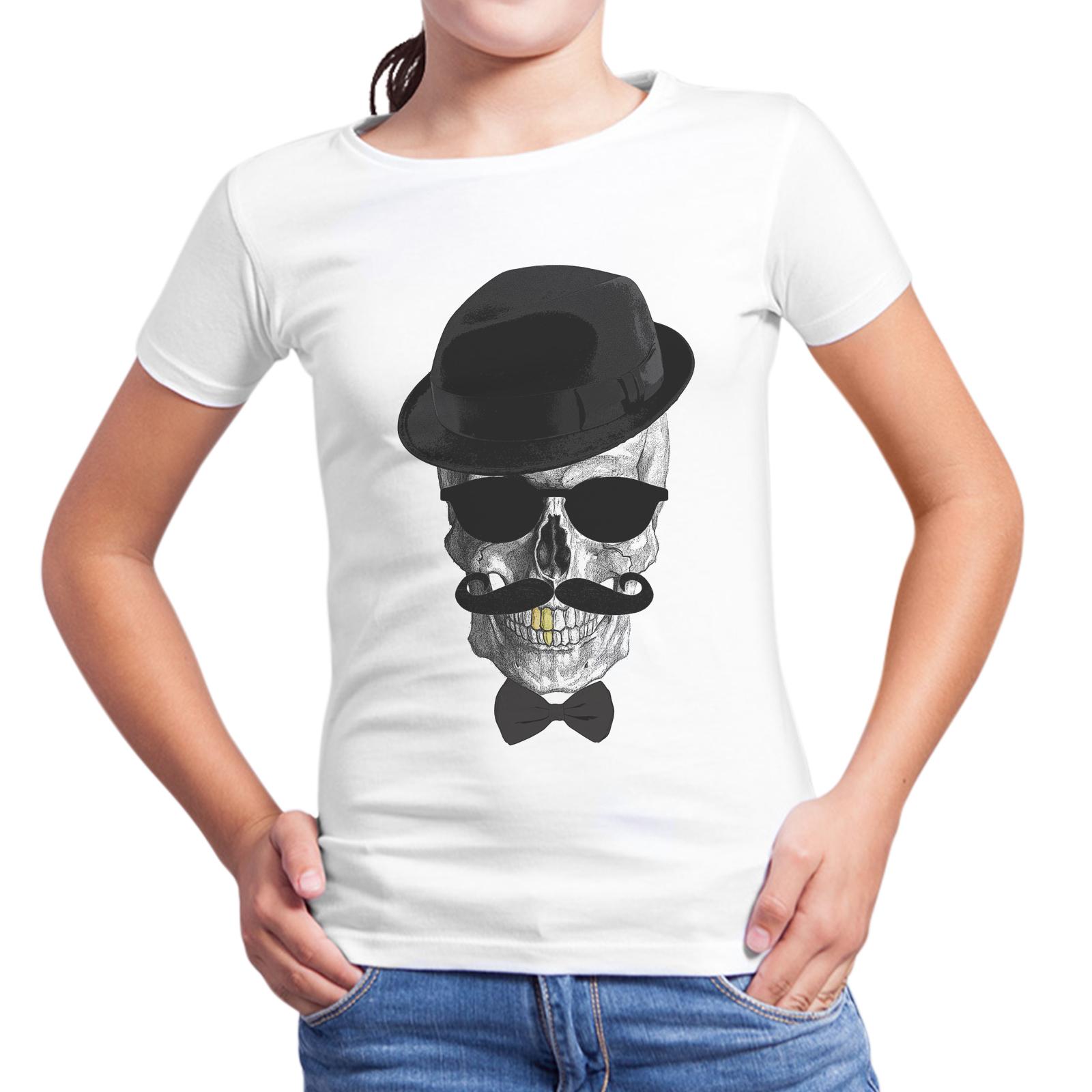 T-Shirt Bambina MR. SKULL