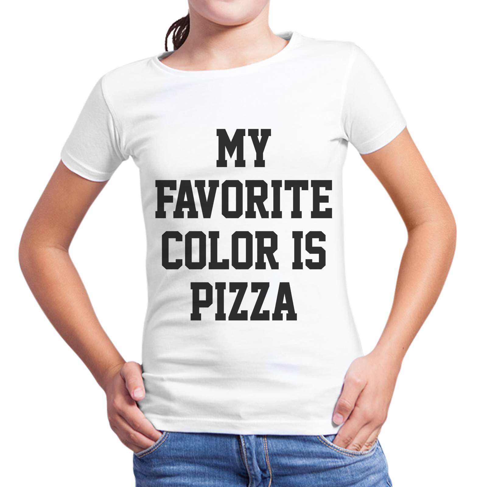 T-Shirt Bambina COLOR PIZZA
