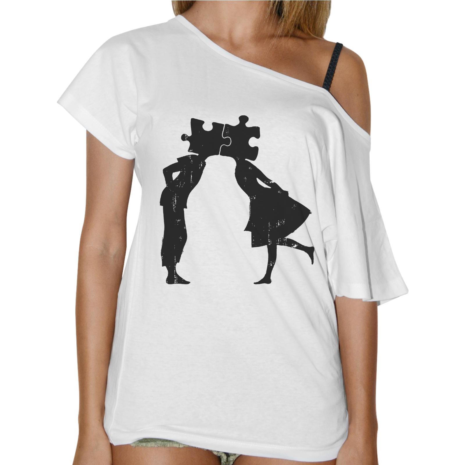 T-Shirt Donna Collo Barca PUZZLE LOVE