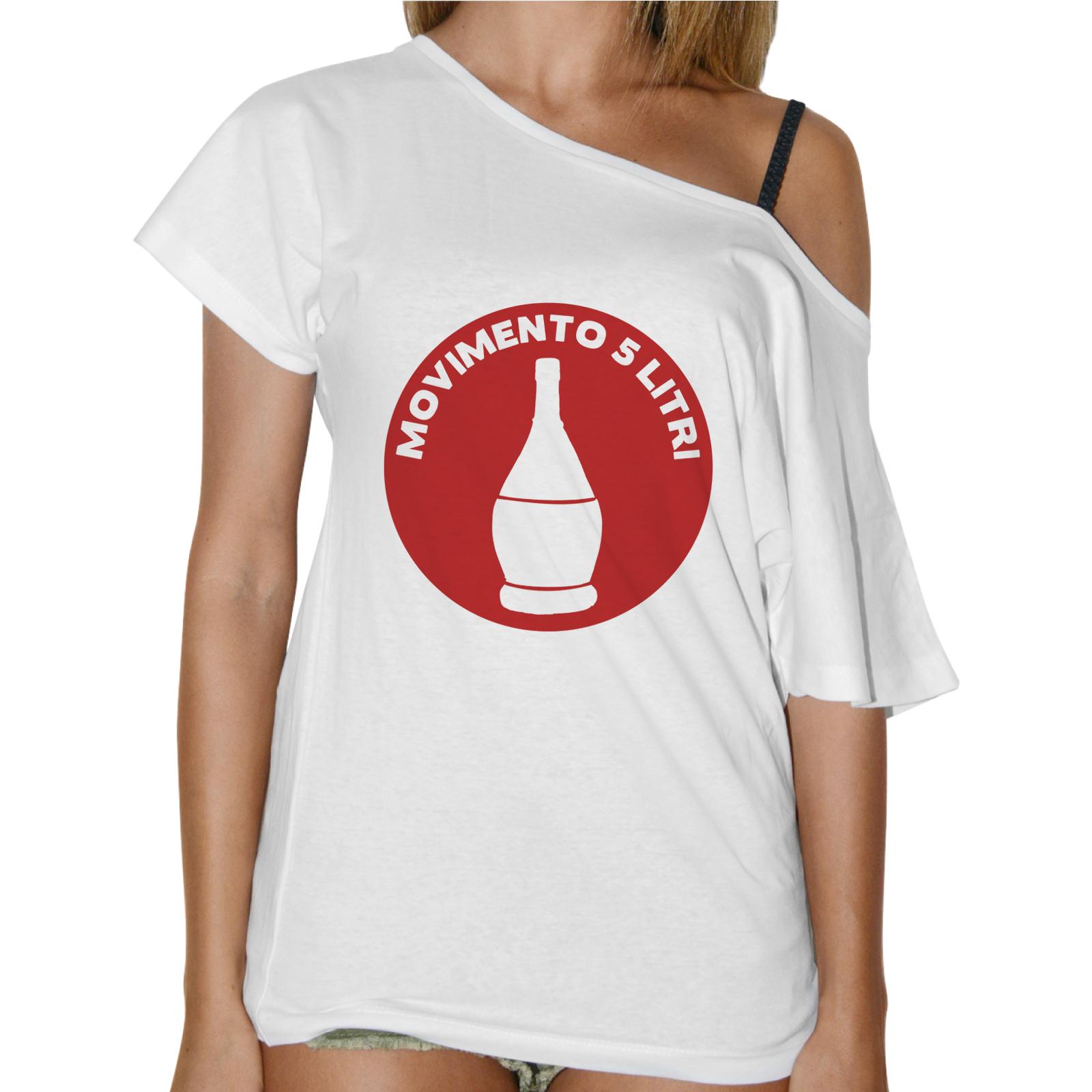 T-Shirt Donna Collo Barca MOVIMENTO 5 LITRI