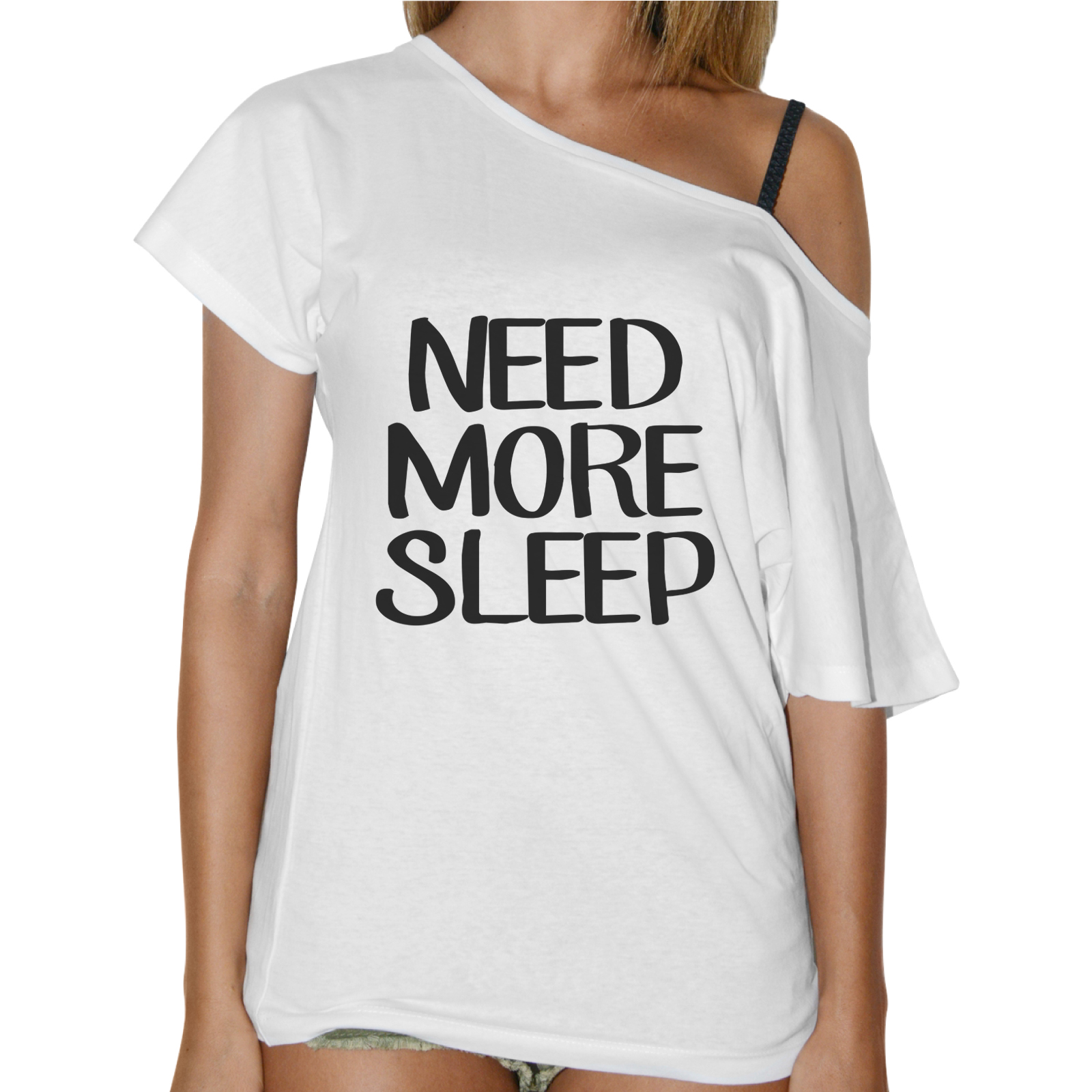 T-Shirt Donna Collo Barca NEED MORE SLEEP