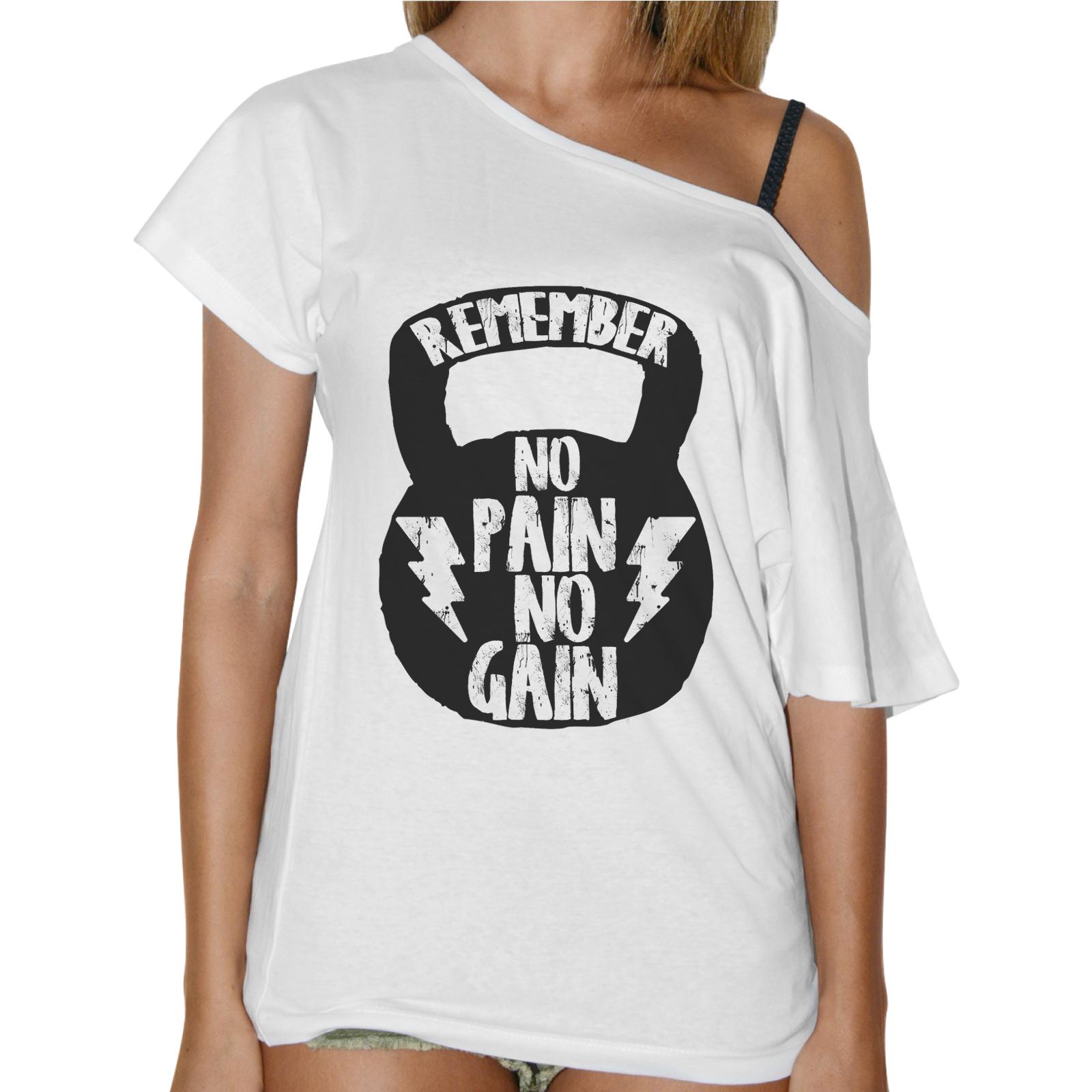 T-Shirt Donna Collo Barca NO PAIN NO GAIN
