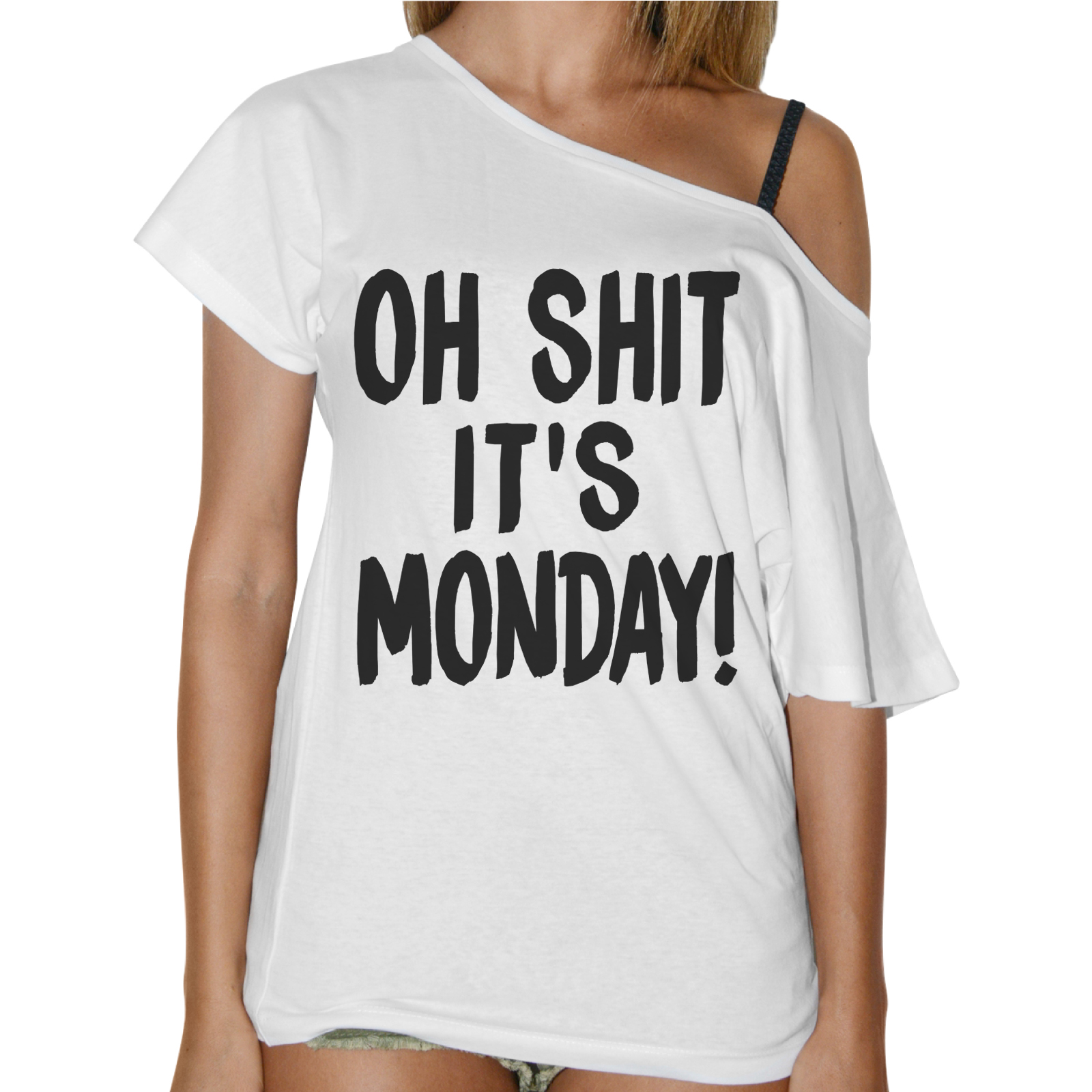 T-Shirt Donna Collo Barca SHIT IT'S MONDAY