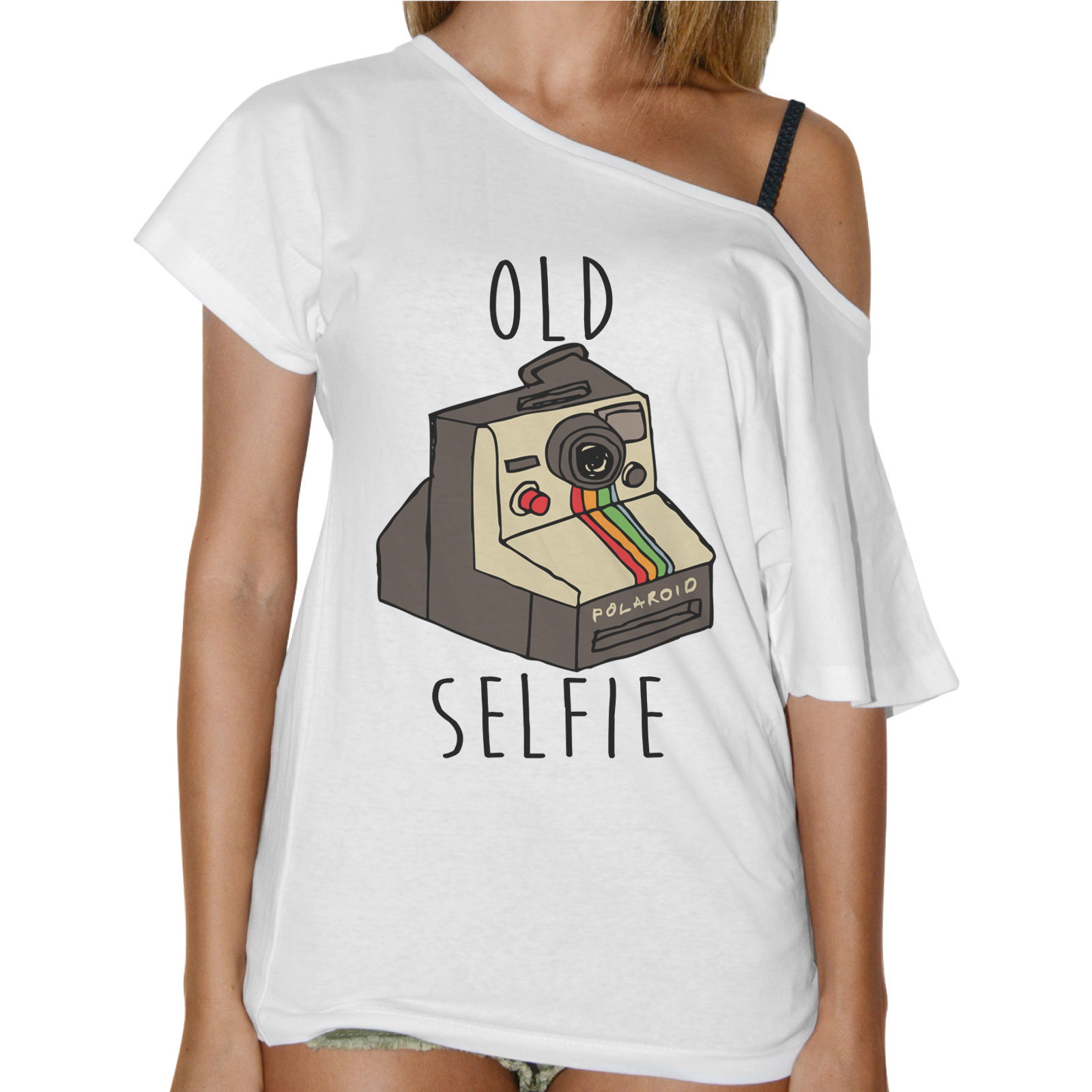 T-Shirt Donna Collo Barca OLD SELFIE