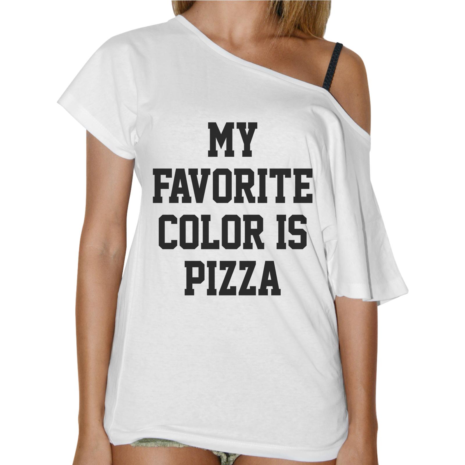 T-Shirt Donna Collo Barca COLOR PIZZA