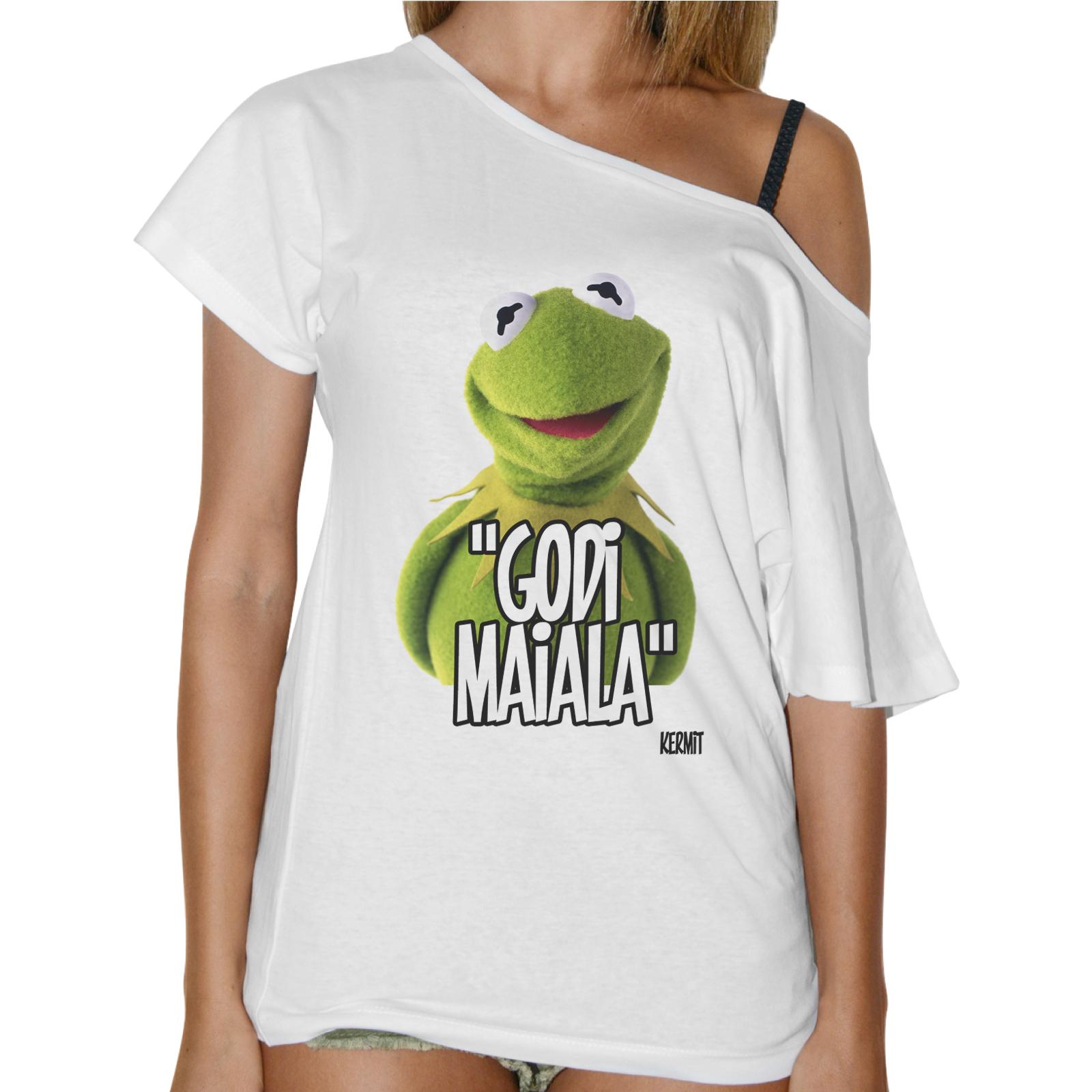 T-Shirt Donna Collo Barca GODI MAIALA