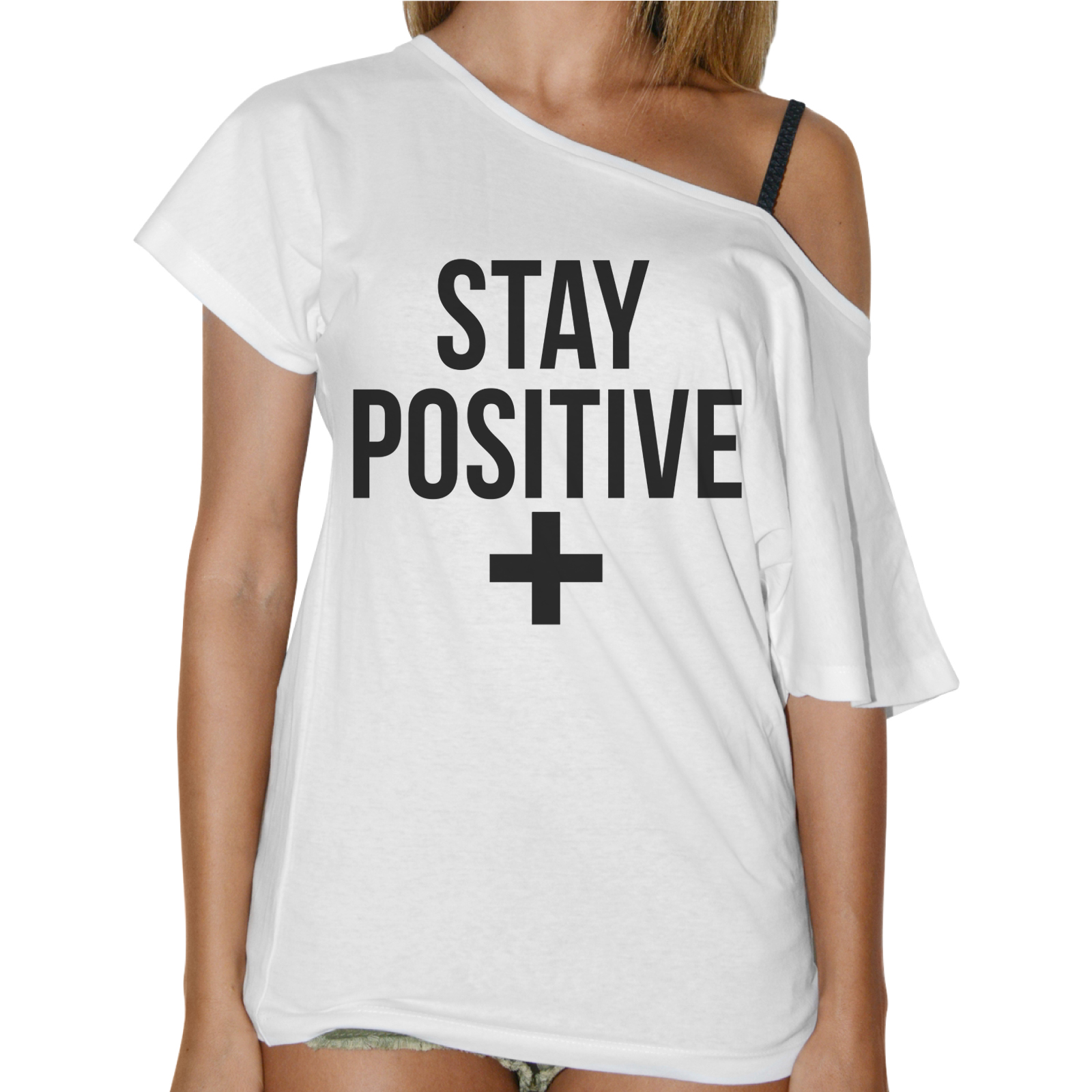 T-Shirt Donna Collo Barca STAY POSITIVE