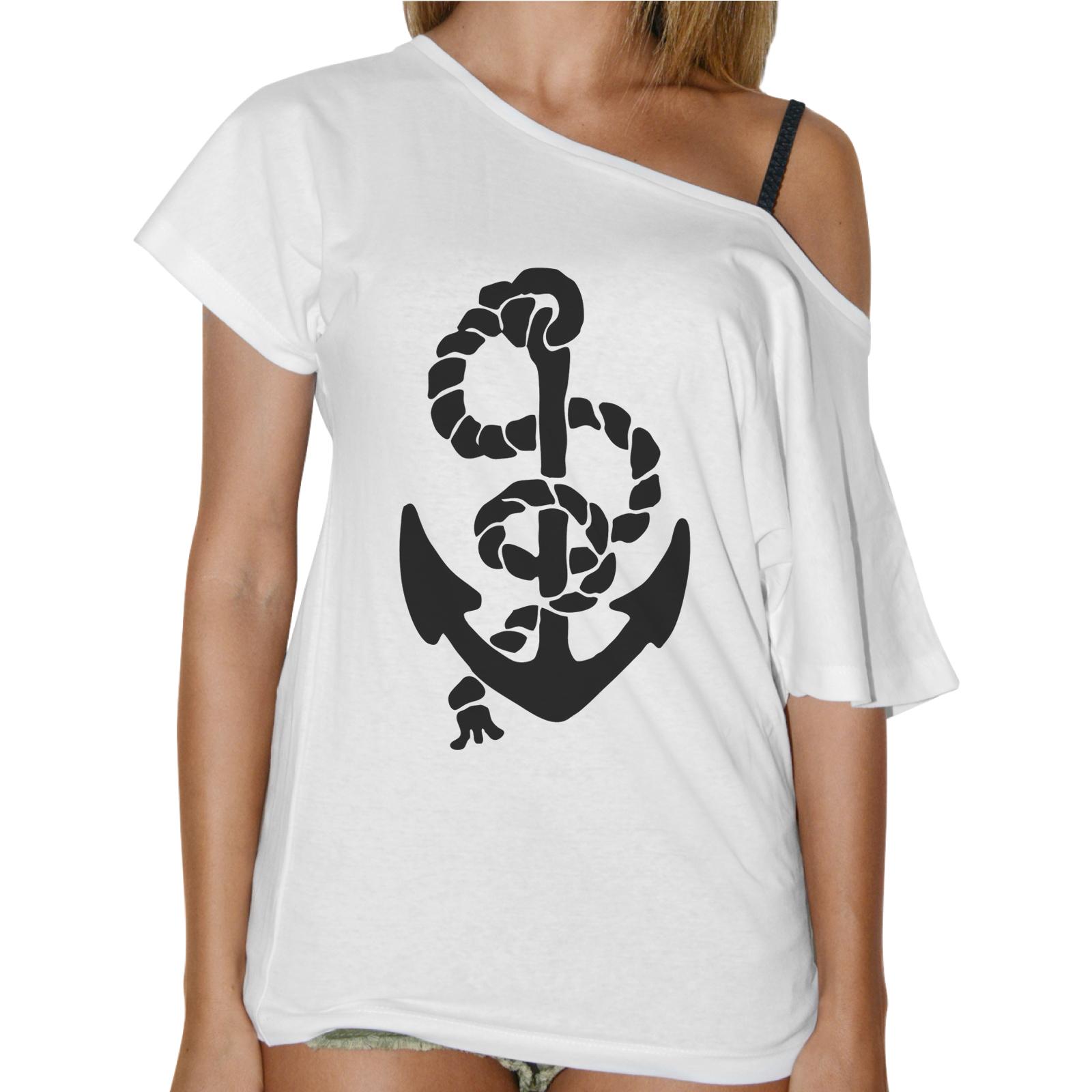 T-Shirt Donna Collo Barca ANCORA CORDA