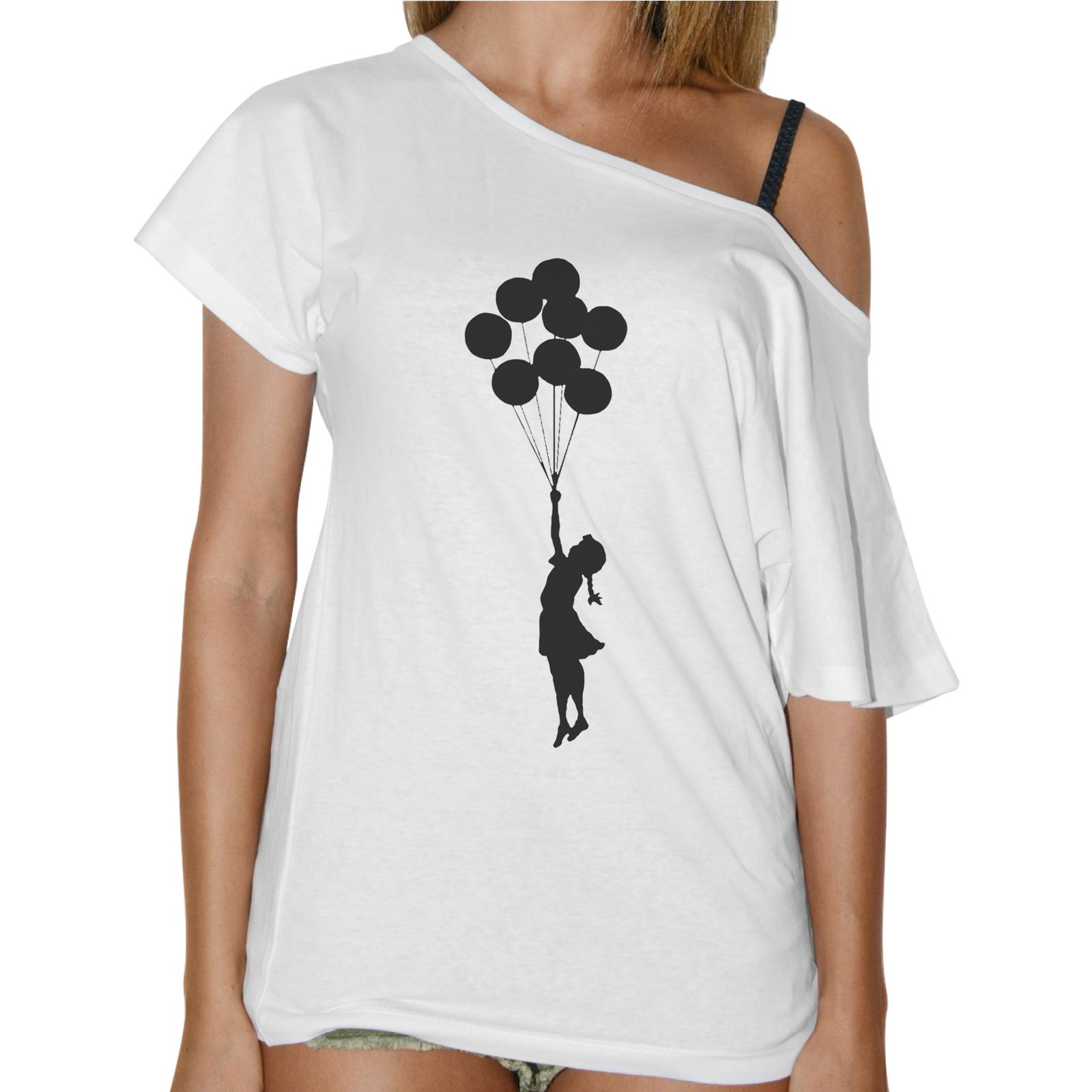 T-Shirt Donna Collo Barca BAMBINA PALLONCINI